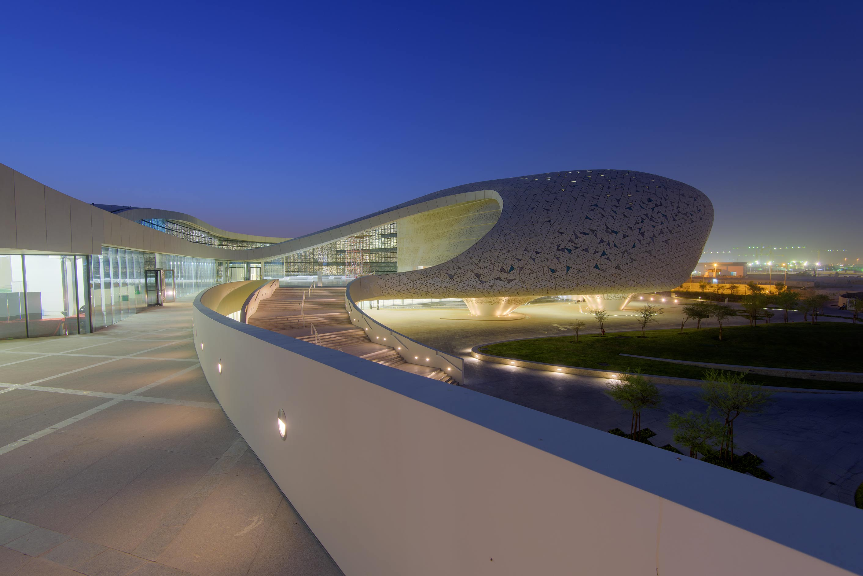 Cavernous structure of Education City Mosque. Doha, Qatar