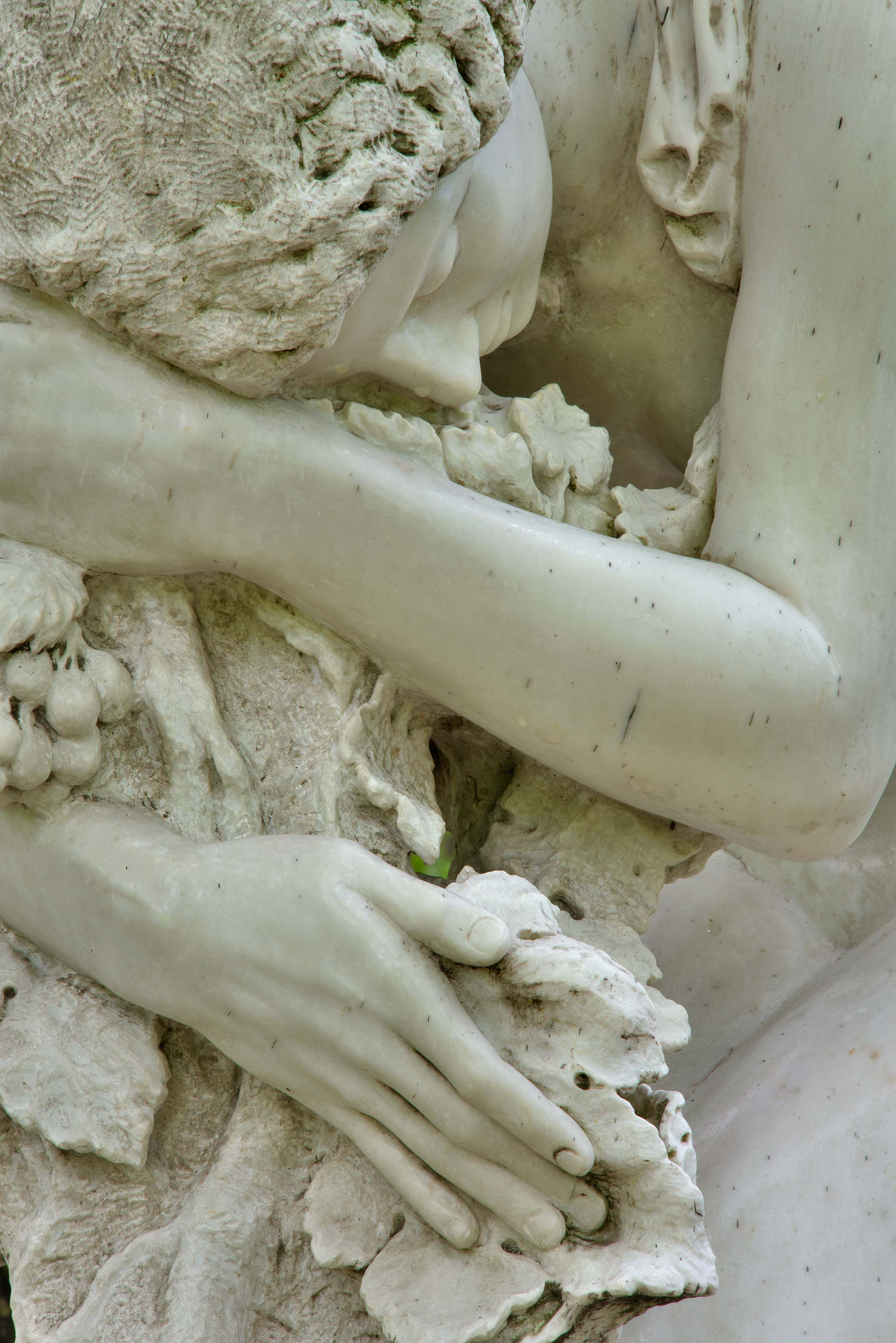 Detail of a marble sculpture on a tomb of a...Cemetery. St.Petersburg, Russia
