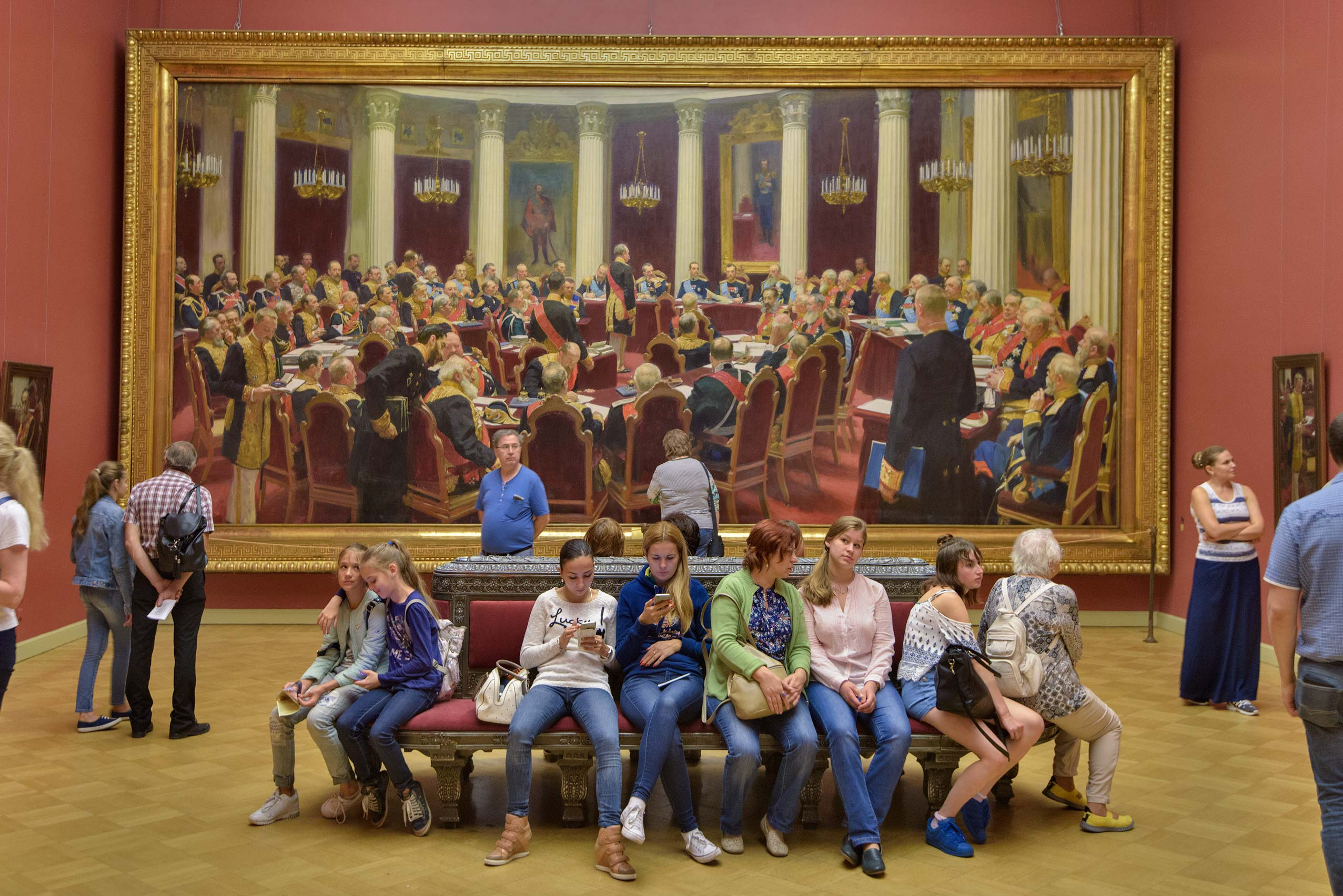 Repin painting in Russian Museum. St.Petersburg, Russia