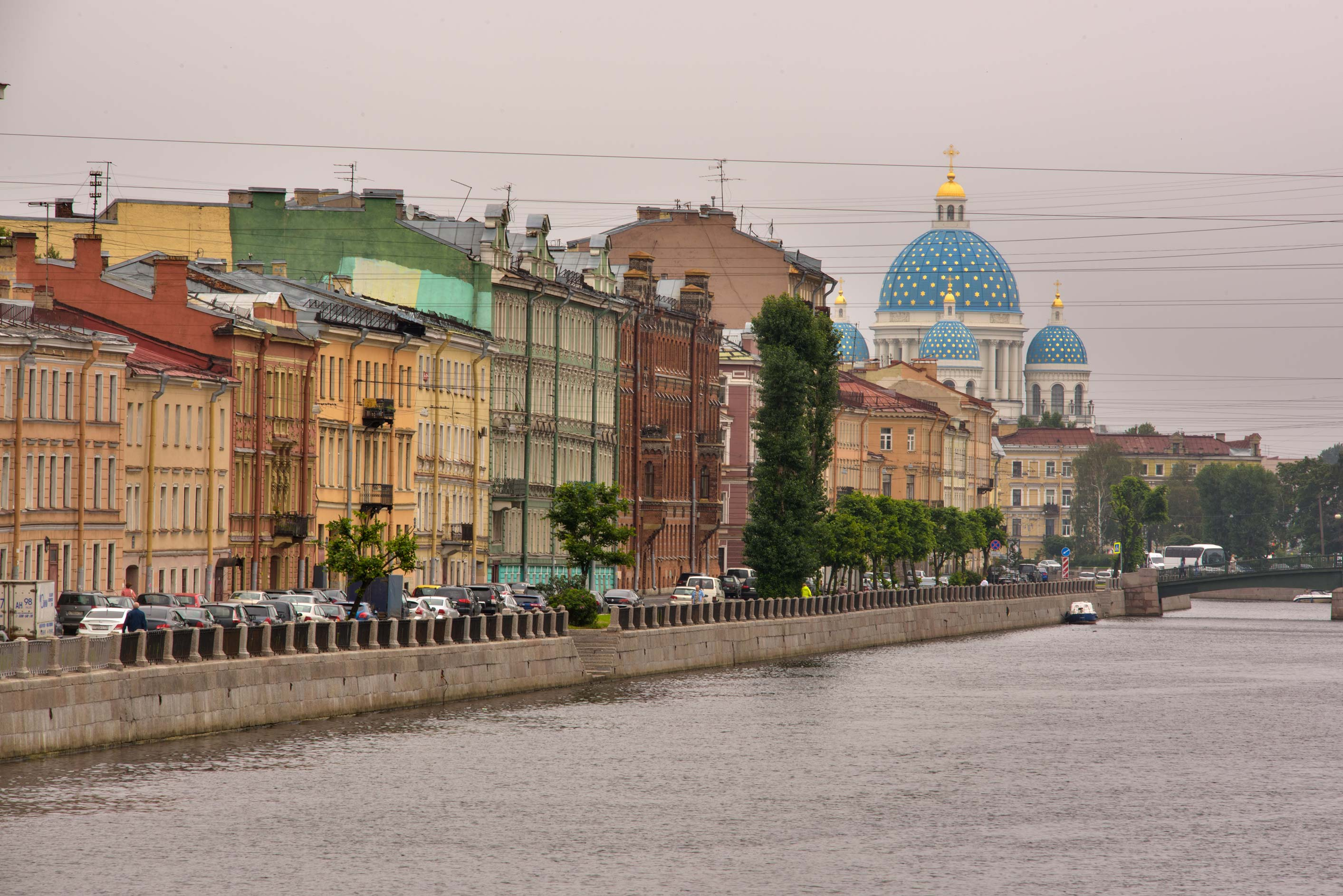 View of Fontanka River. St.Petersburg, Russia
