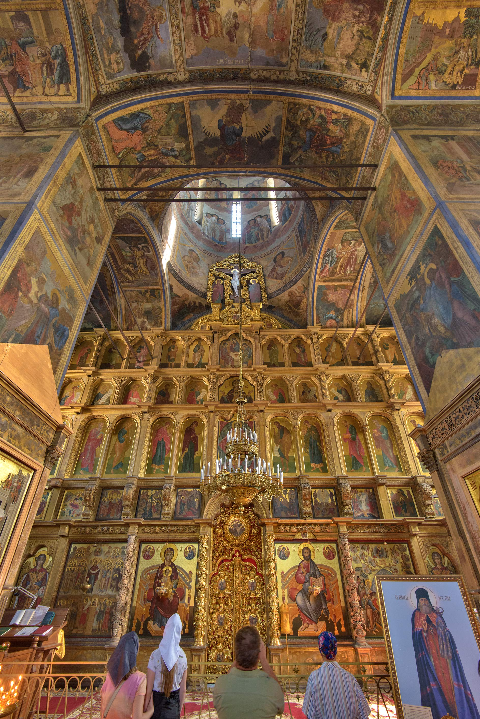 Altar of Uspeniya Cathedral in Tikhvin. Leningrad Region, Russia