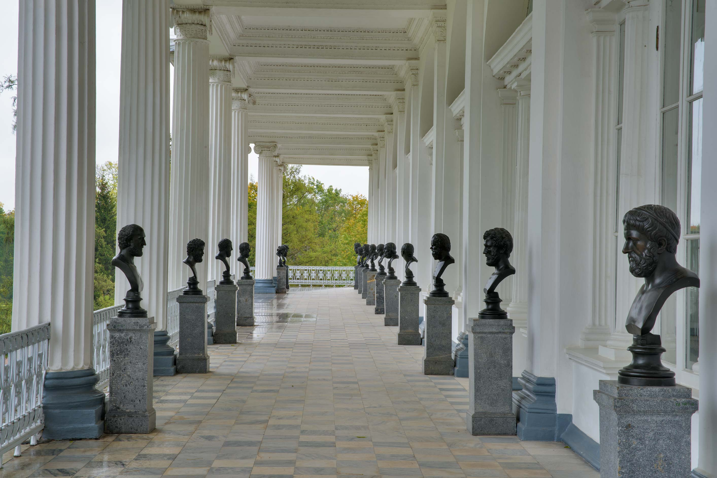 Columns of Cameron Gallery in Catherine Park...Selo) near St.Petersburg, Russia