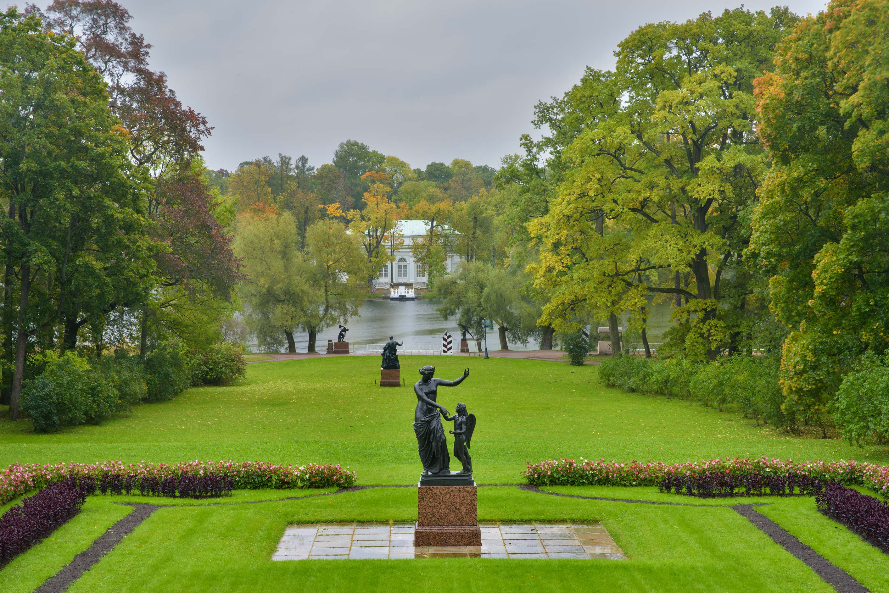 Granite Terrace in Catherine Park. Pushkin...Selo) near St.Petersburg, Russia
