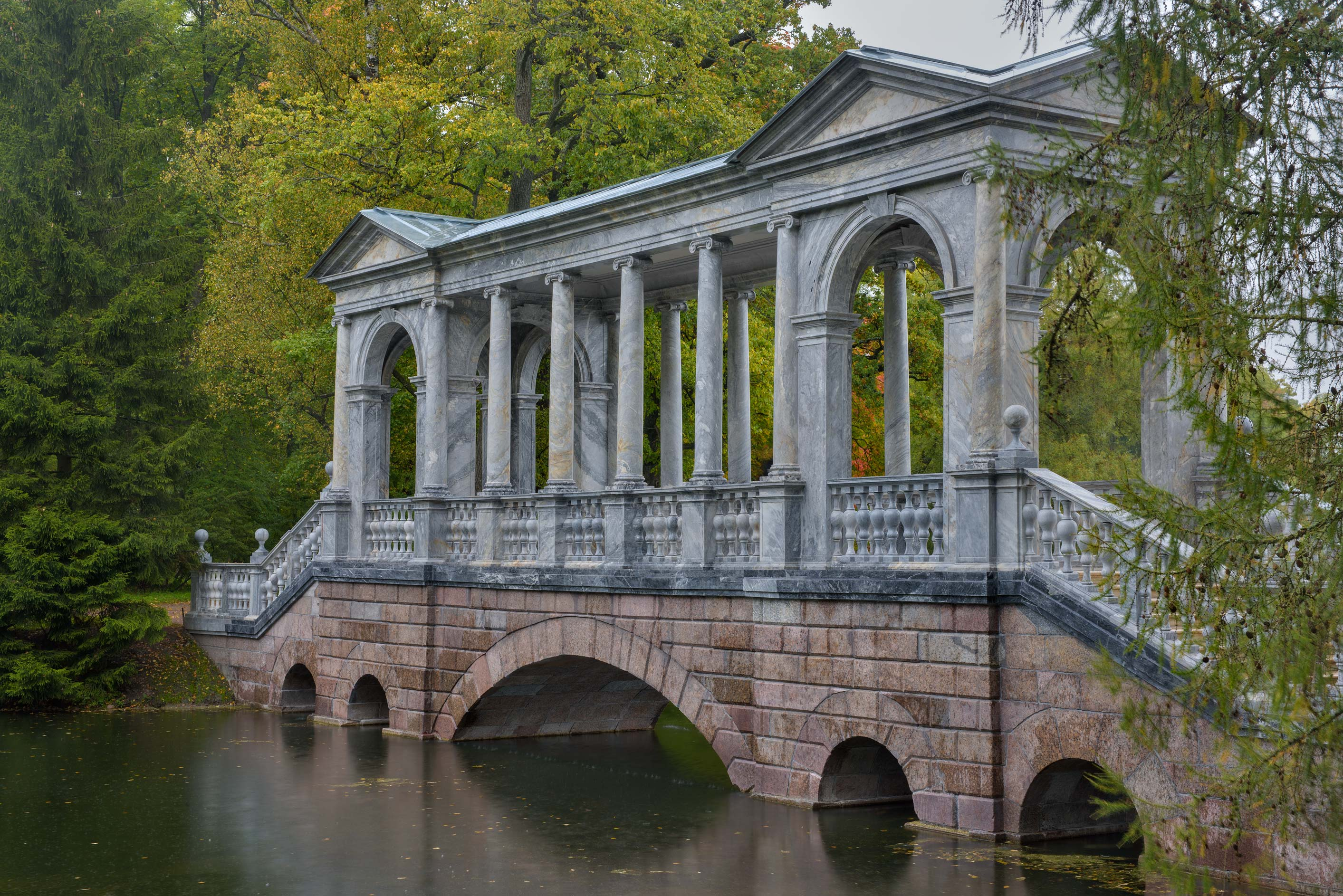 Palladiev (Siberian) Bridge in Catherine Park...Selo) near St.Petersburg, Russia