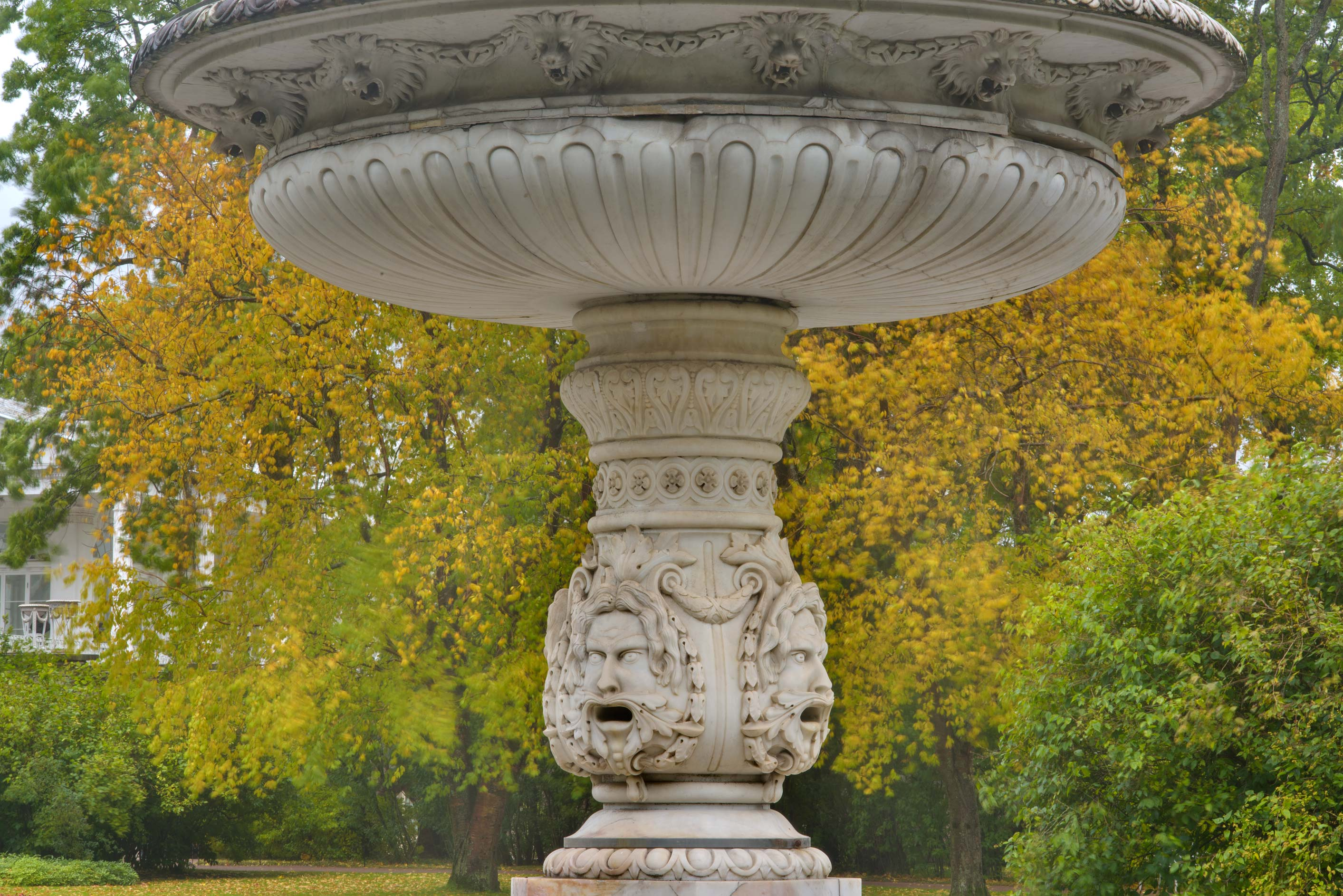 Marble fountain of Personal Garden in Catherine...Selo) near St.Petersburg, Russia