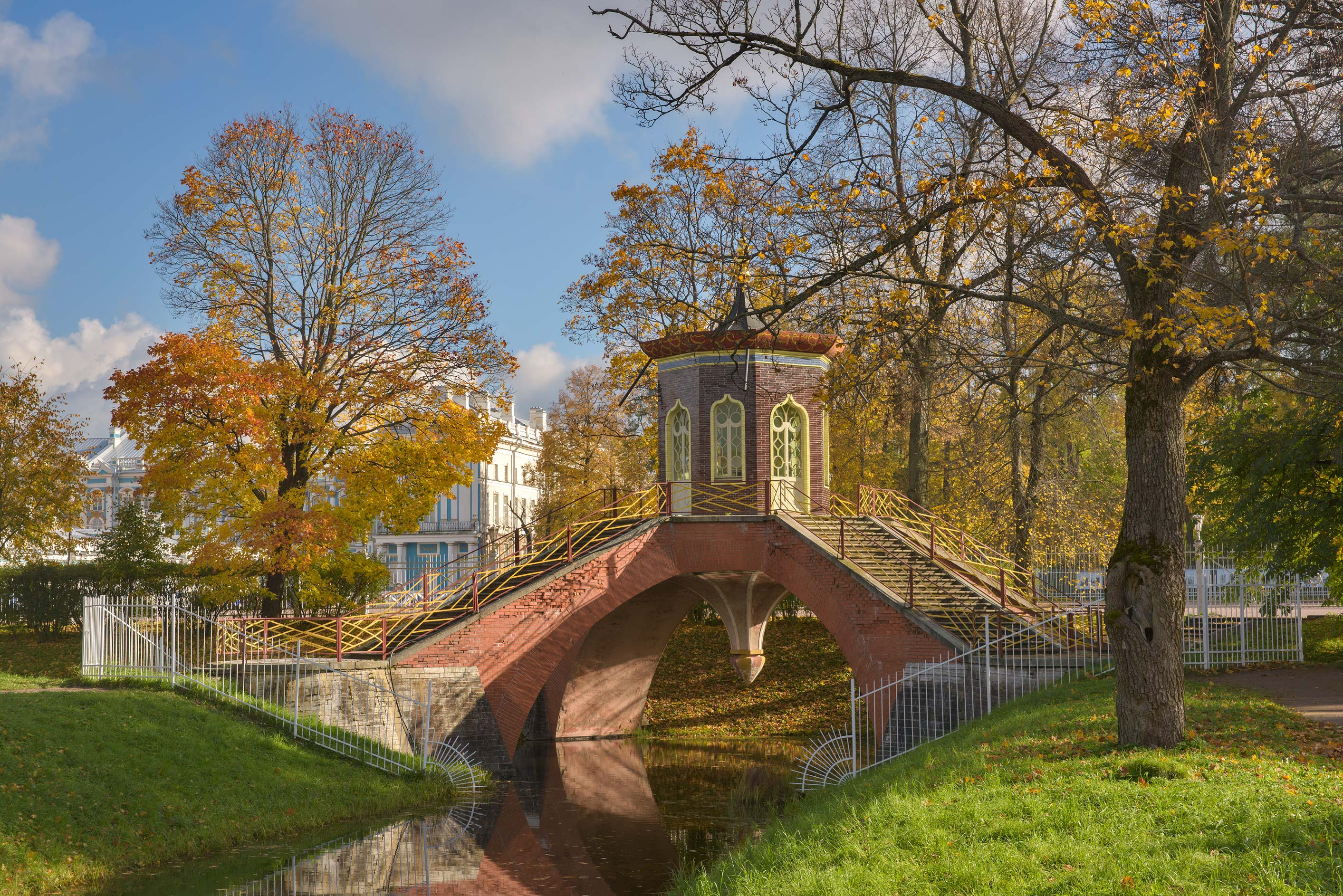 Cross Bridge (Krestovy Most) in Alexander Park...south from St.Petersburg, Russia