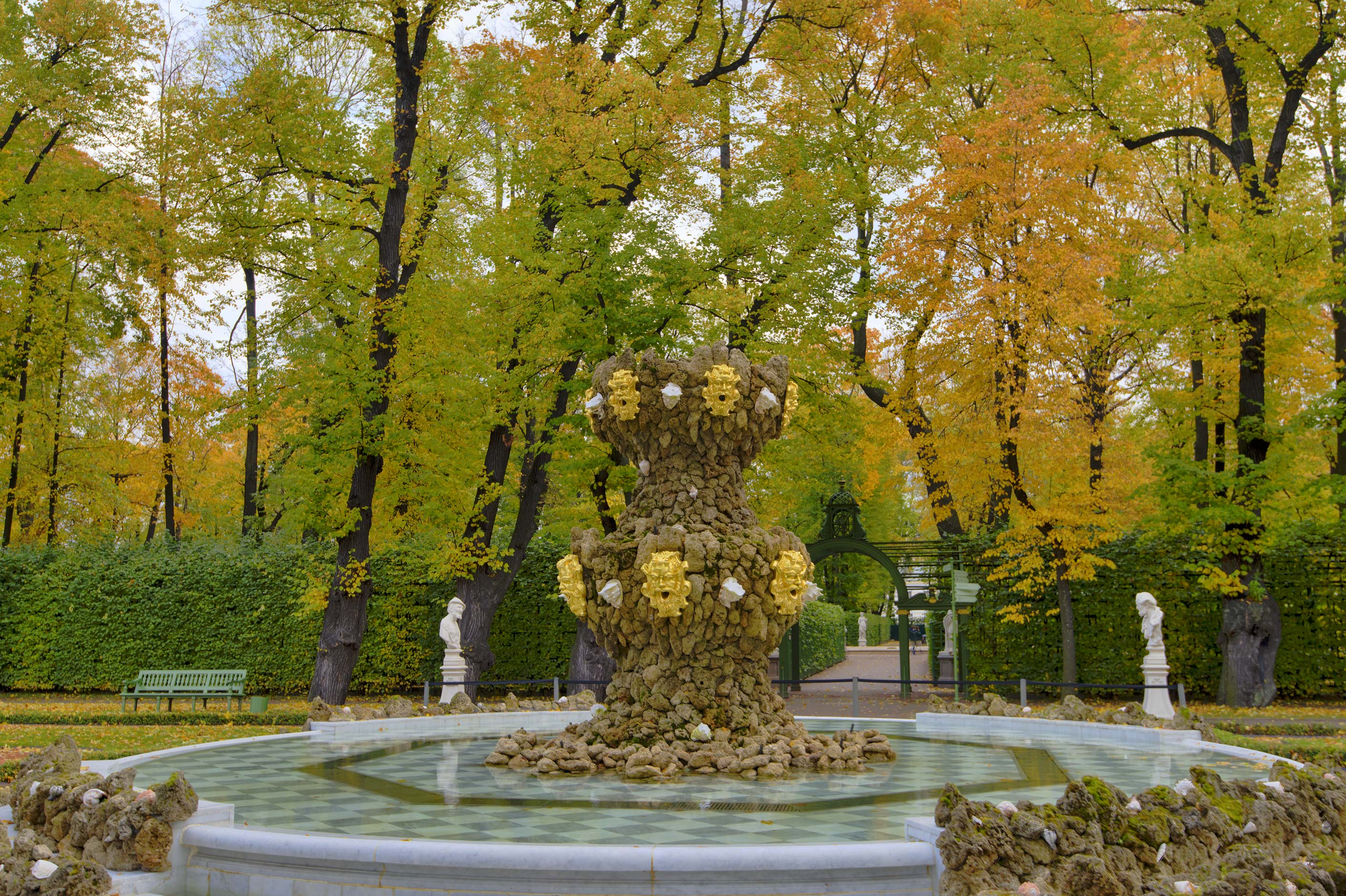 Grand Parterre in Letniy Sad (Summer Garden). St.Petersburg, Russia
