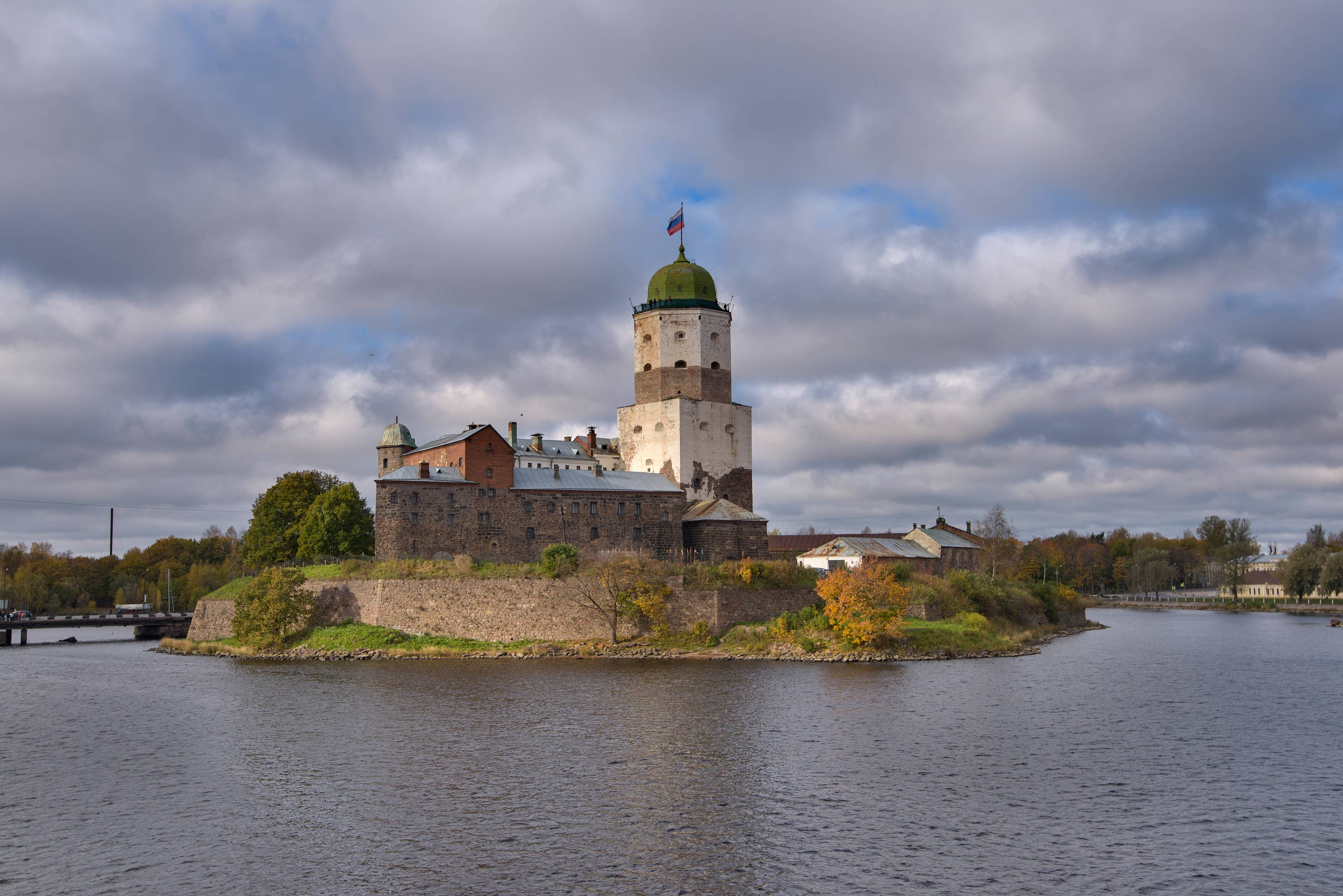 Castle in Vyborg, north from St.Petersburg. Russia