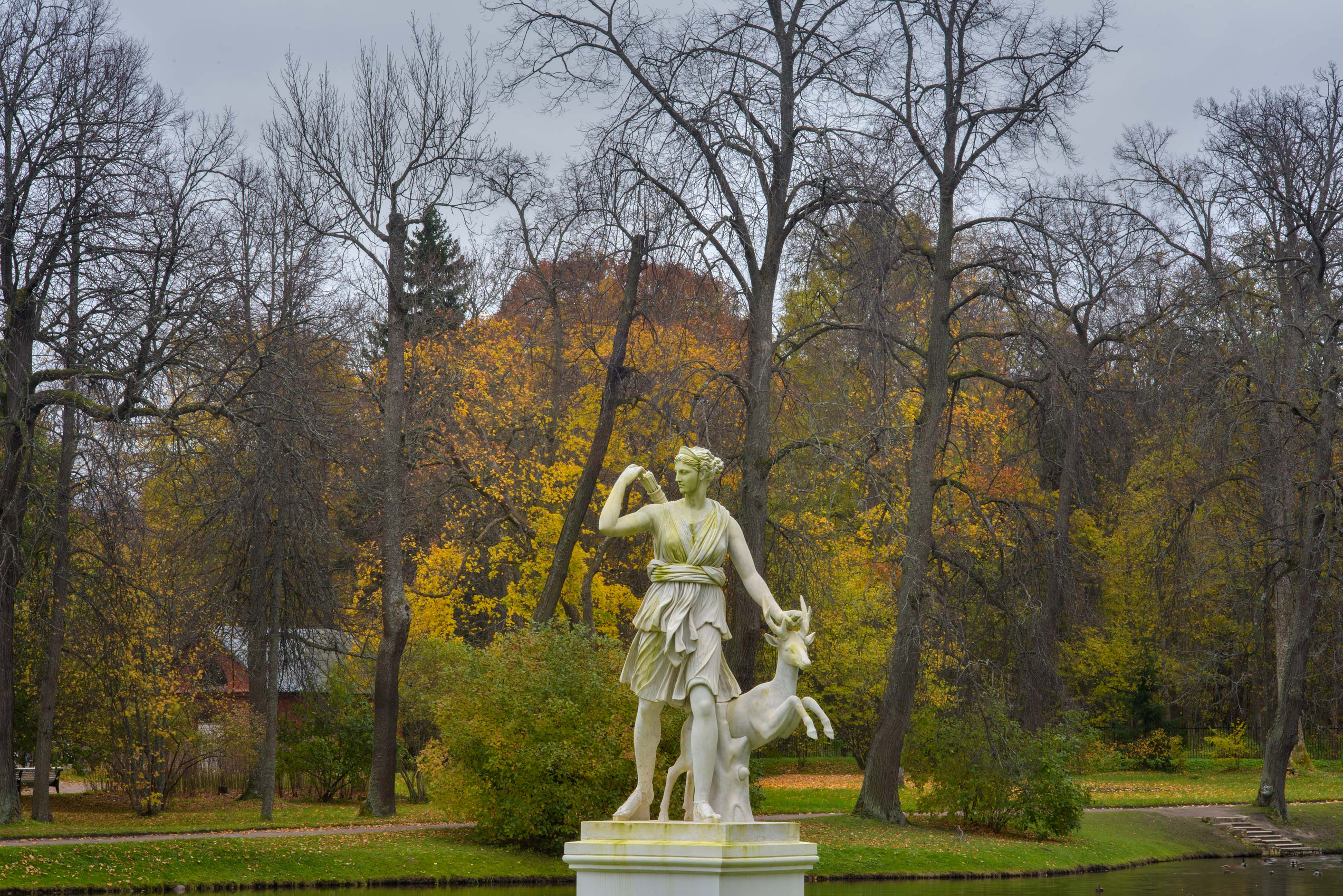 A sculpture near Chinese Palace in Upper Park in...West from St.Petersburg, Russia