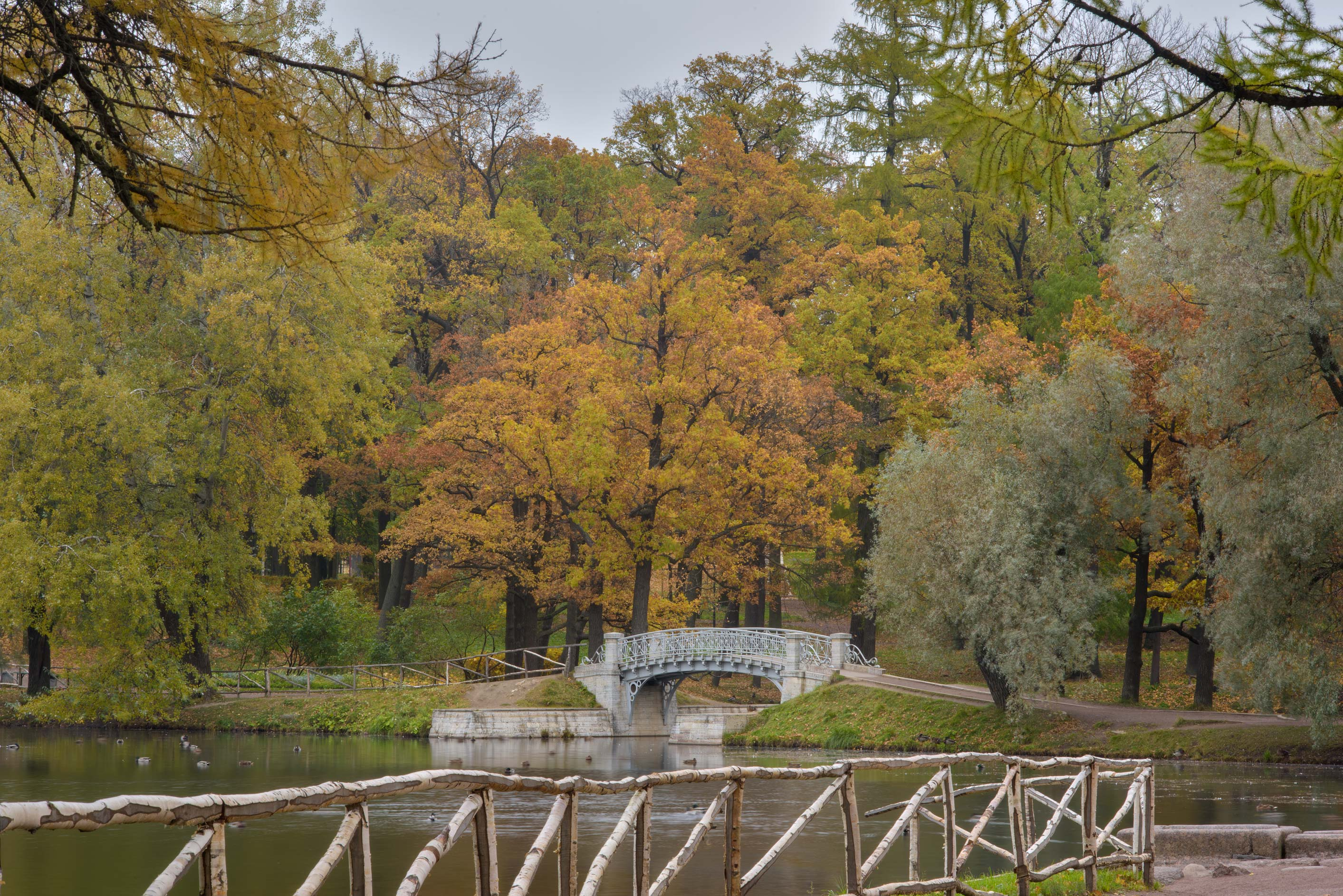 Foot bridge in Gatchina Park. Gatchina, a suburb of St.Petersburg, Russia