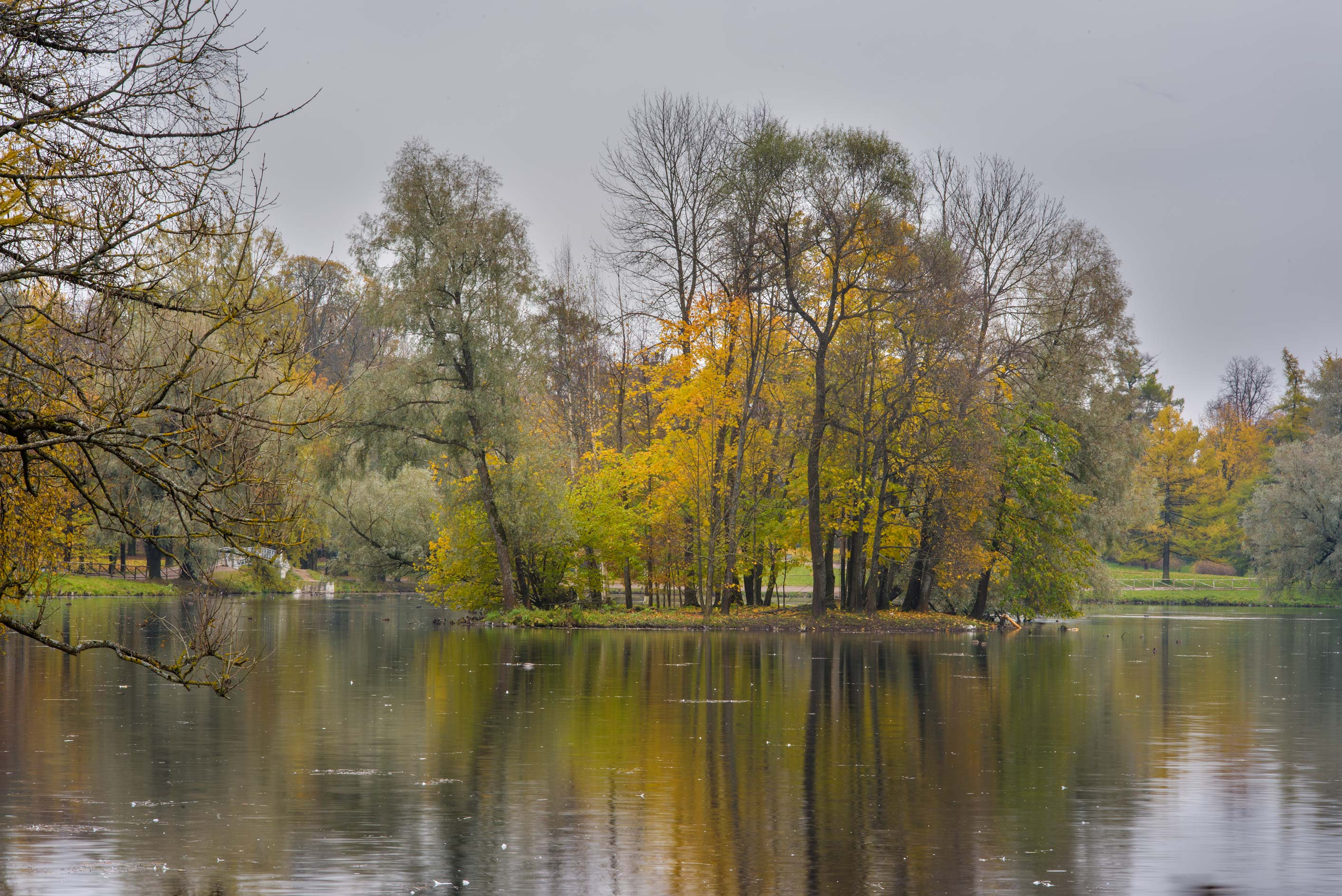 Crow Island in Gatchina Park. Gatchina, a suburb of St.Petersburg, Russia
