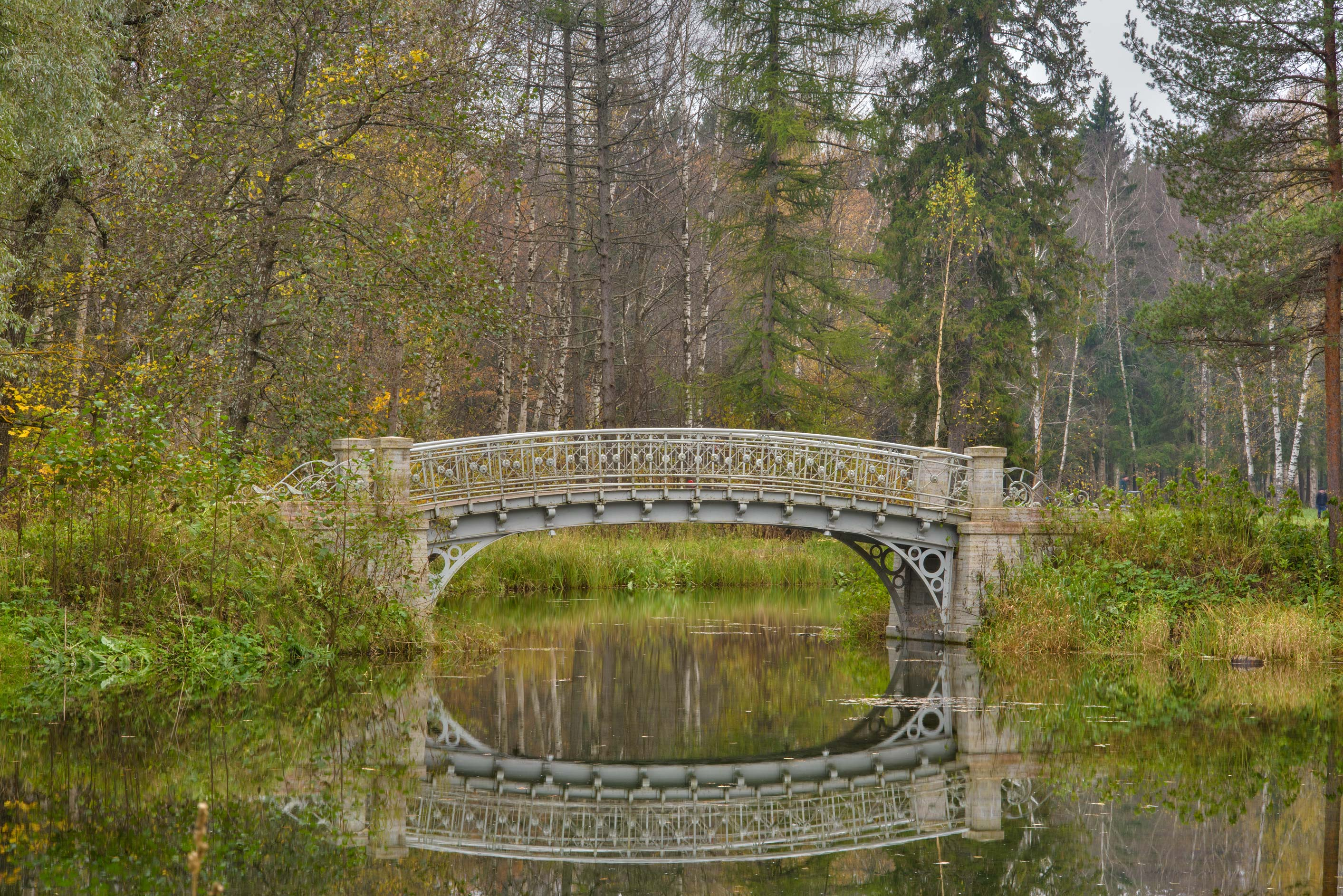 Bridge of Zakharov Island in Gatchina Park. Gatchina, a suburb of St.Petersburg, Russia