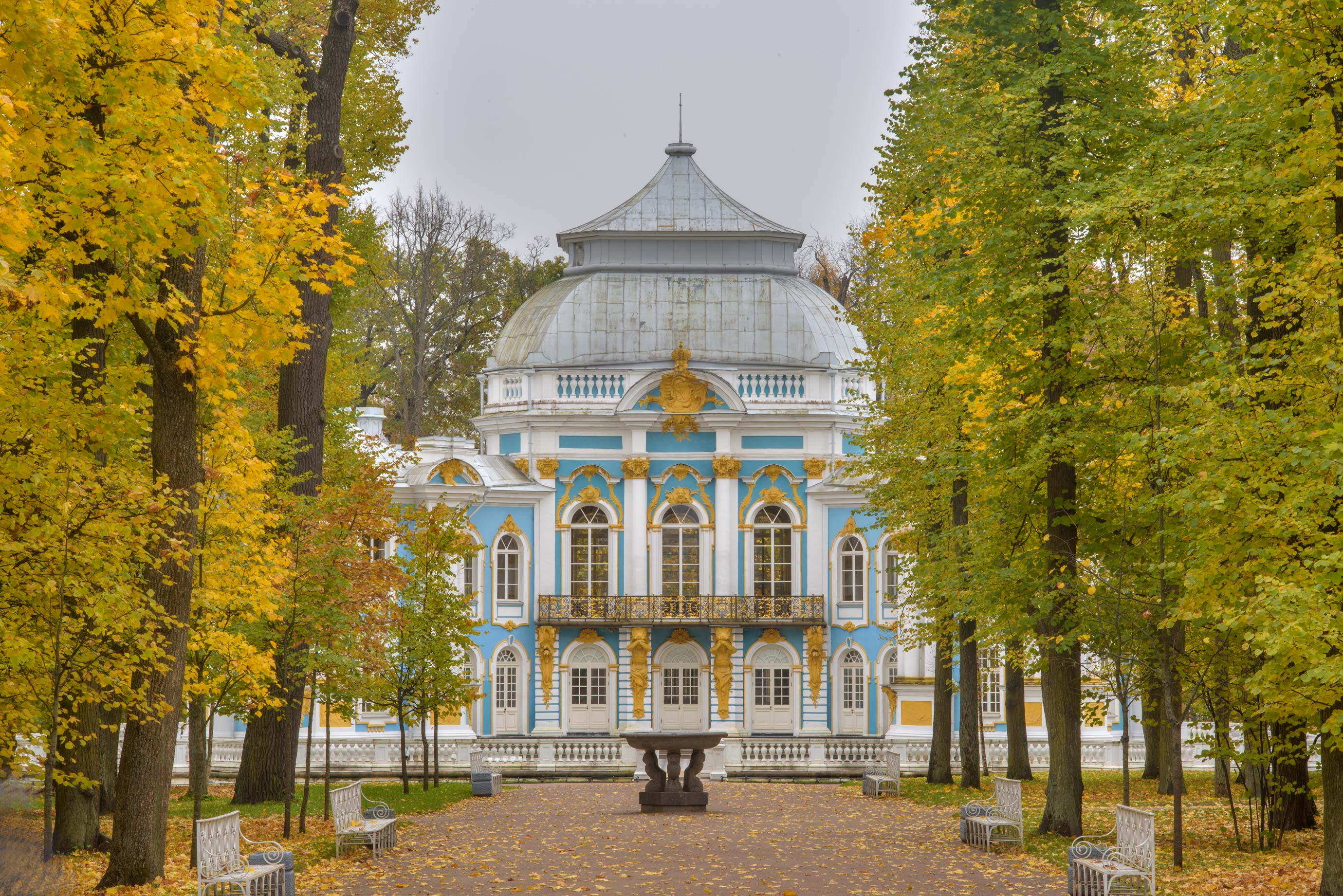 Hermitage Pavilion in Catherine Park. Pushkin...Selo) near St.Petersburg, Russia