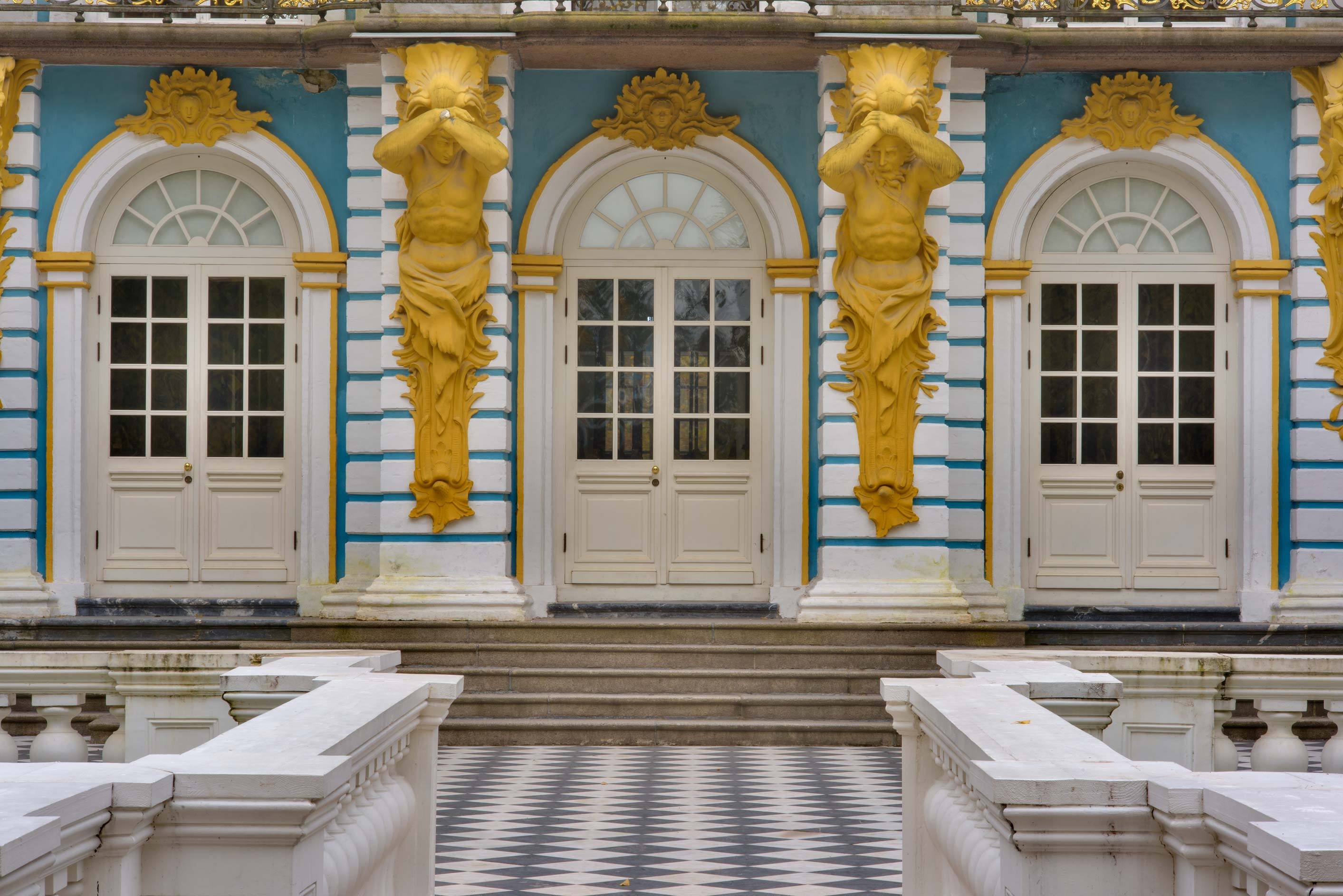 Entrance of Hermitage Pavilion in Catherine Park...Selo) near St.Petersburg, Russia