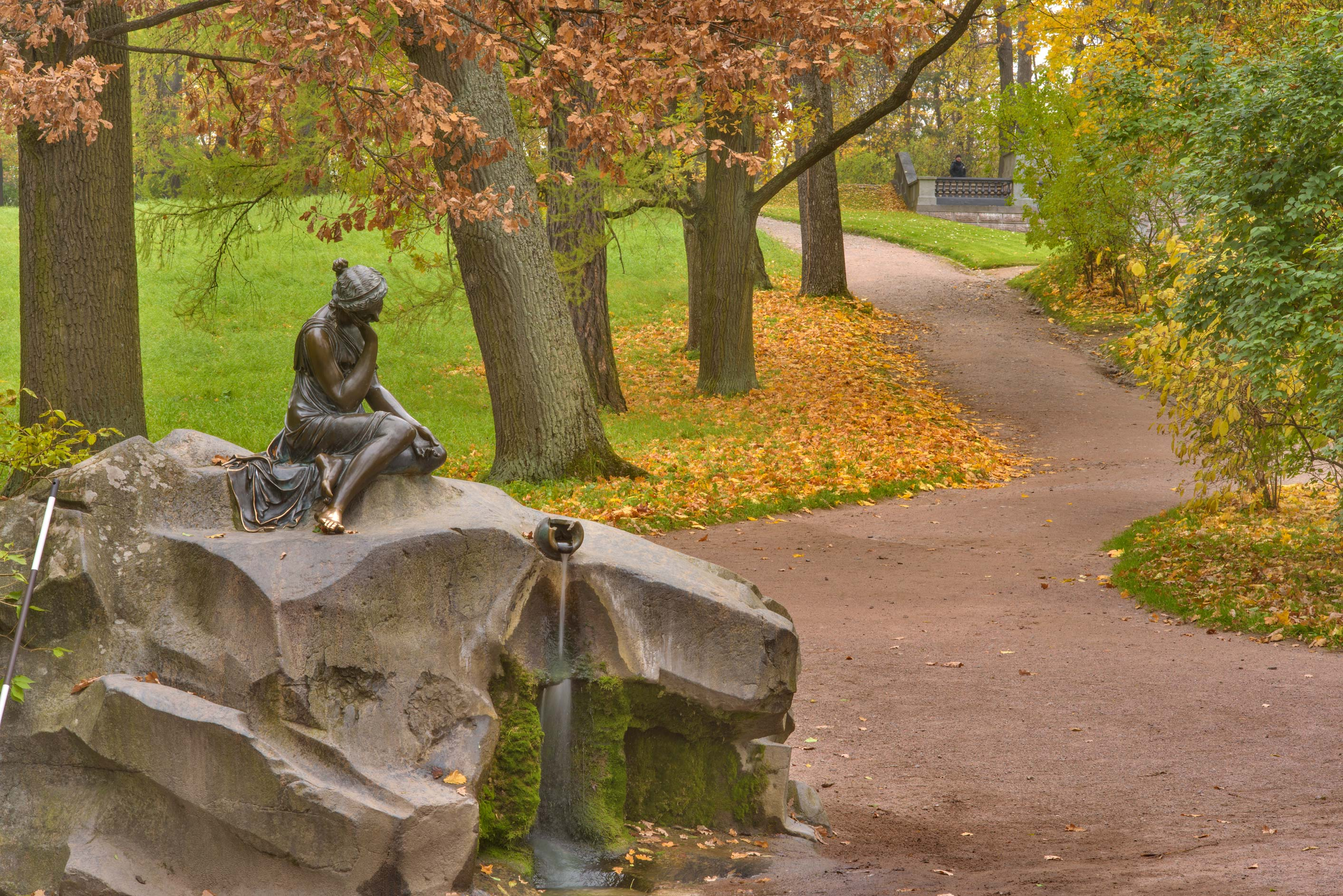 "Fountain ""Woman with a broken jug"" in Catherine...Selo) near St.Petersburg, Russia"