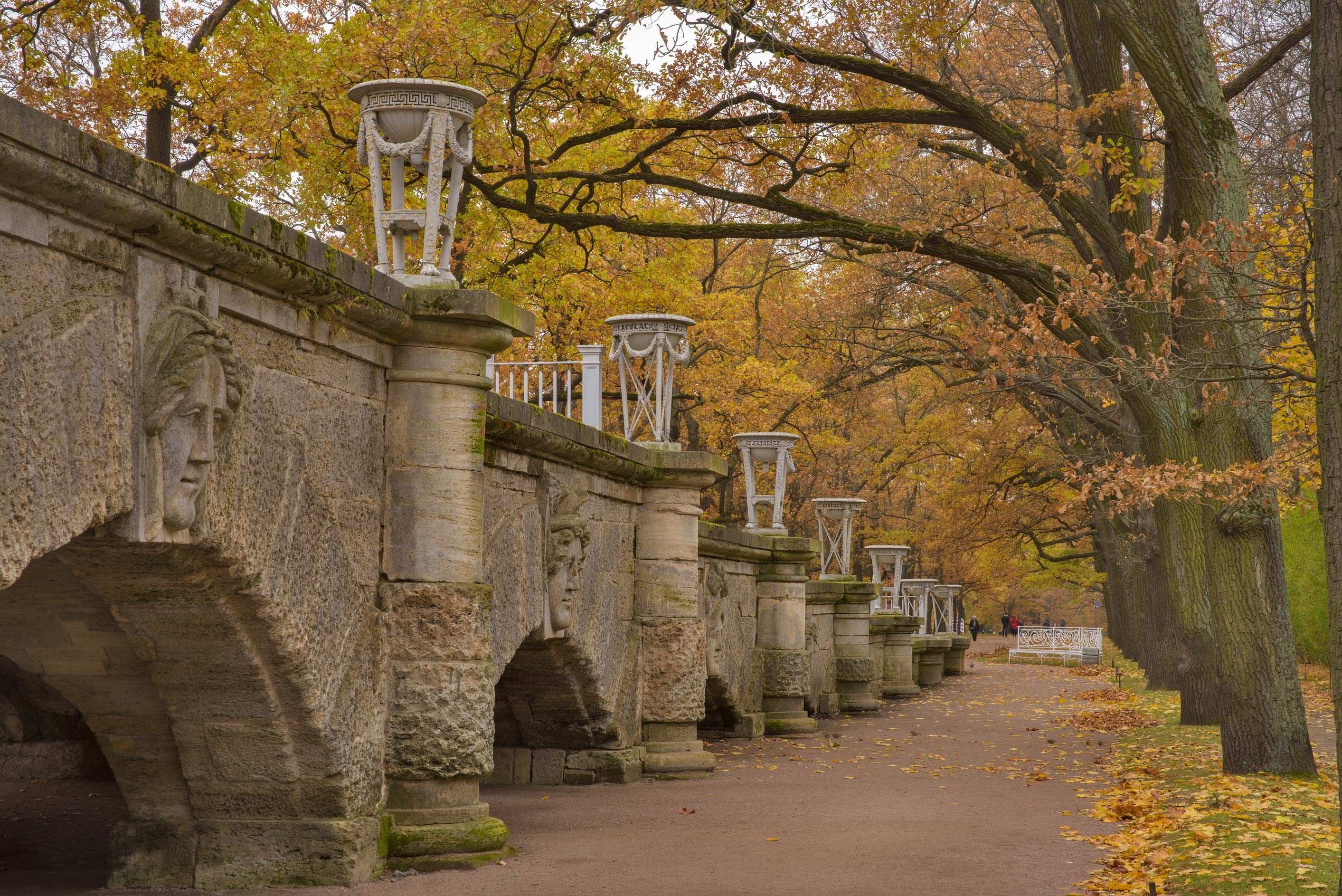 Ramp of Cameron Gallery in Catherine Park...Selo) near St.Petersburg, Russia
