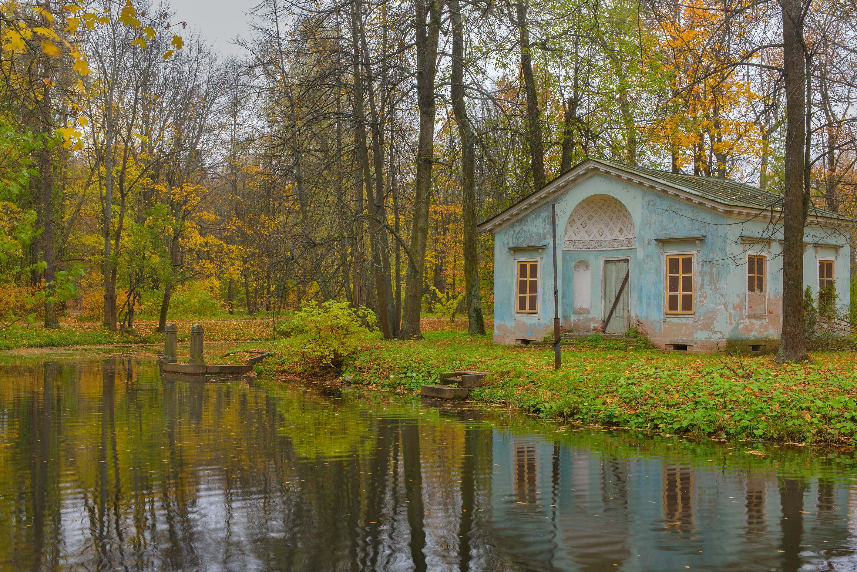 Children's House on an island in Alexander Park...Selo) near St.Petersburg, Russia
