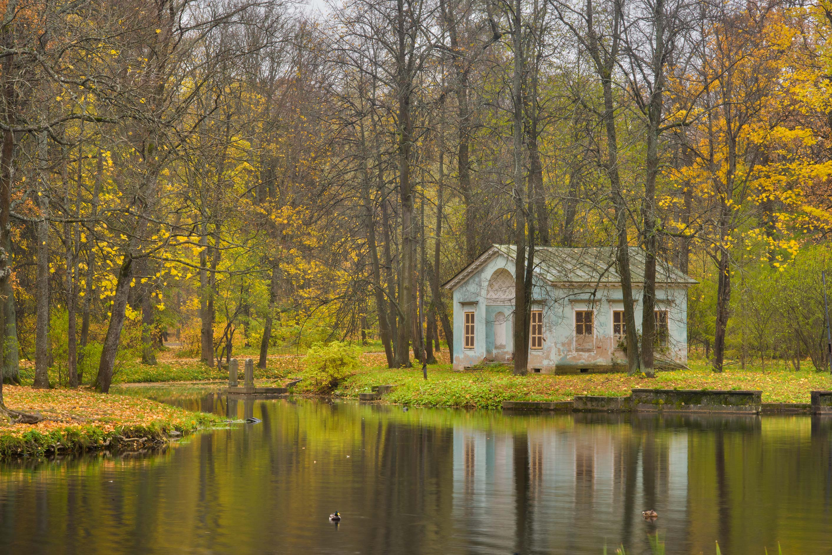 Children's Pond and House in Alexander Park...Selo) near St.Petersburg, Russia