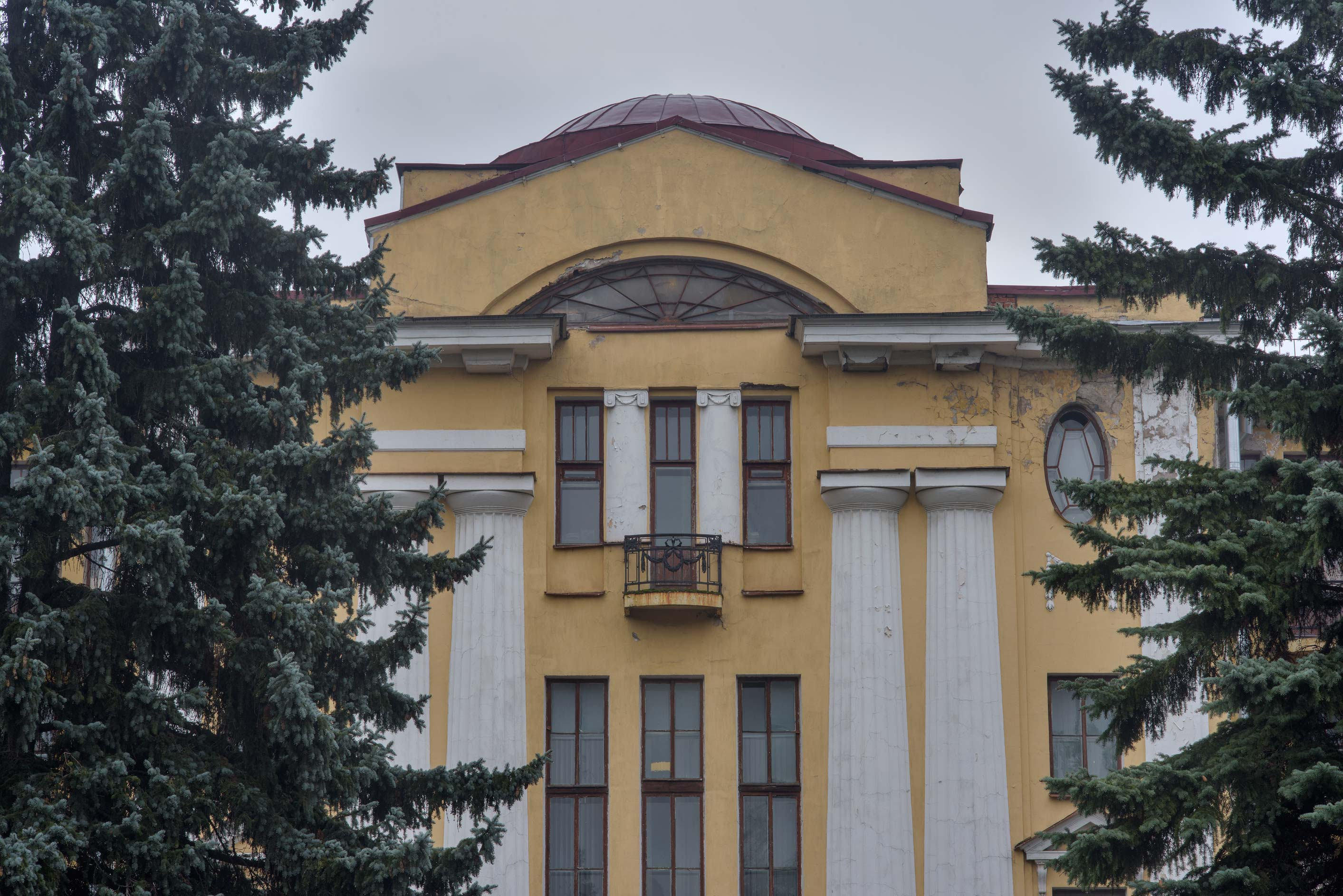 Herbarium Building in Botanic Gardens of Komarov...Institute. St.Petersburg, Russia
