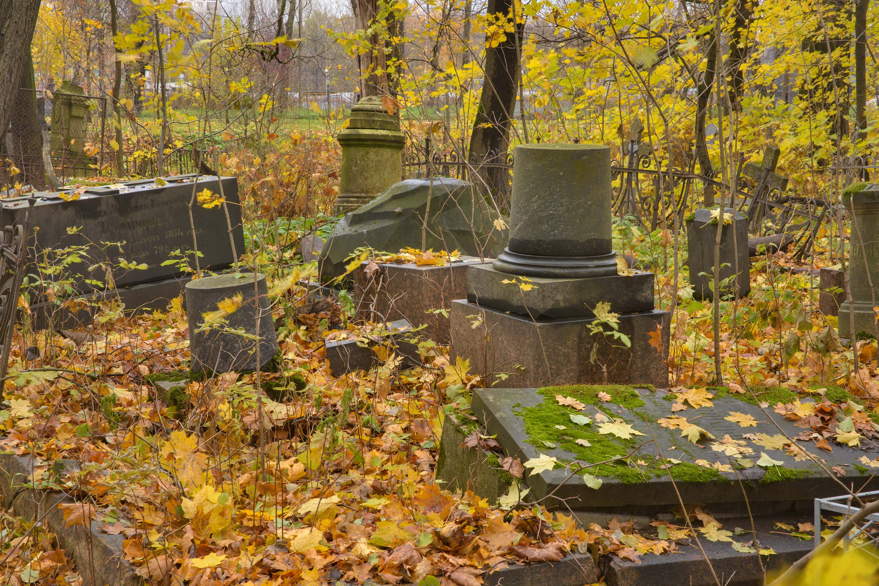 Tombs on Kozhevnikova Lane in Smolenskoe Cemetery...Island. St.Petersburg, Russia