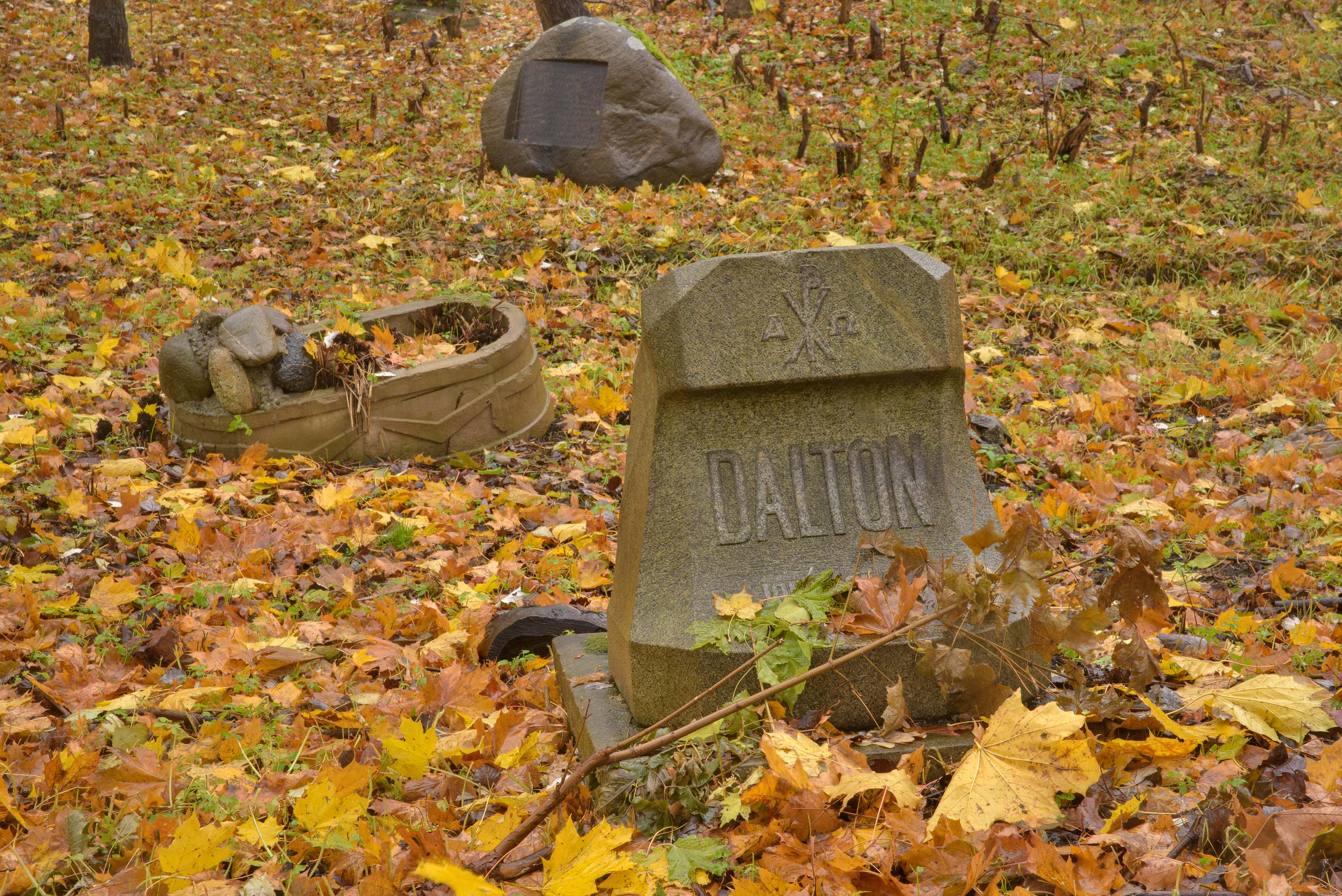 Tomb of Dalton in Smolenskoe Lutheran Cemetery on...Island. St.Petersburg, Russia