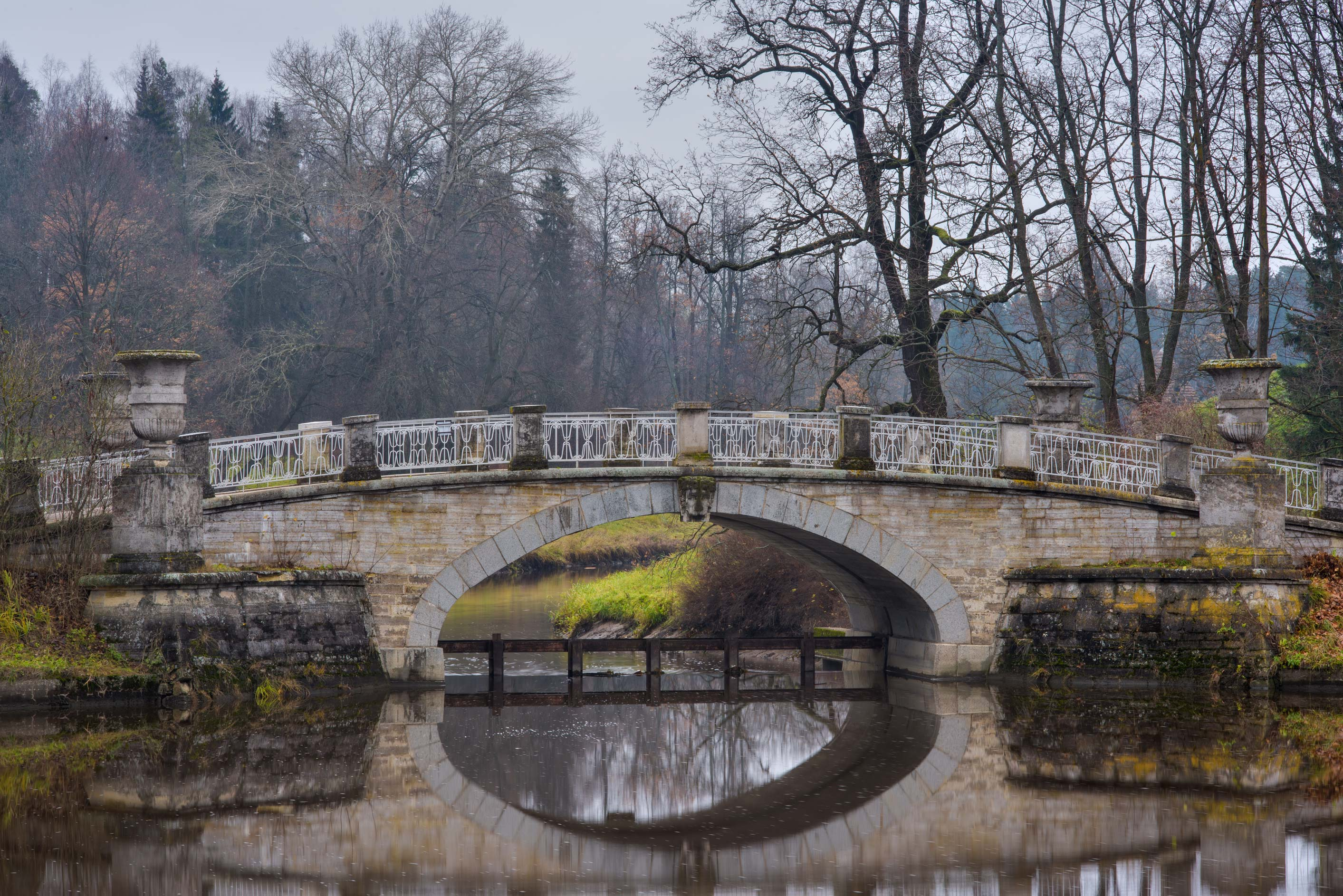 Stone bridge near Eleninskaya Alley in Pavlovsk...suburb of St.Petersburg, Russia