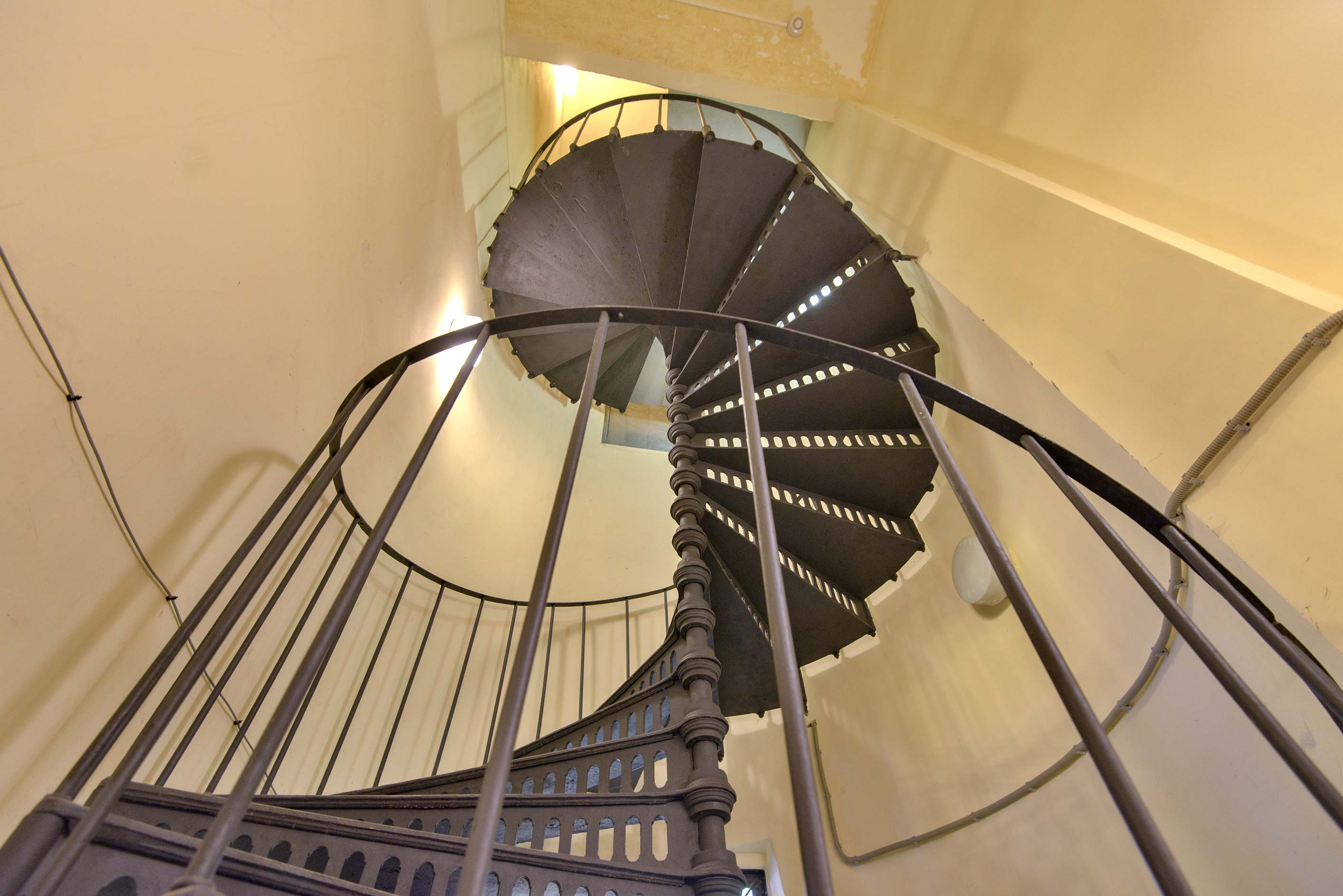 Circular iron staircase of Grand Choral Synagogue. St.Petersburg, Russia