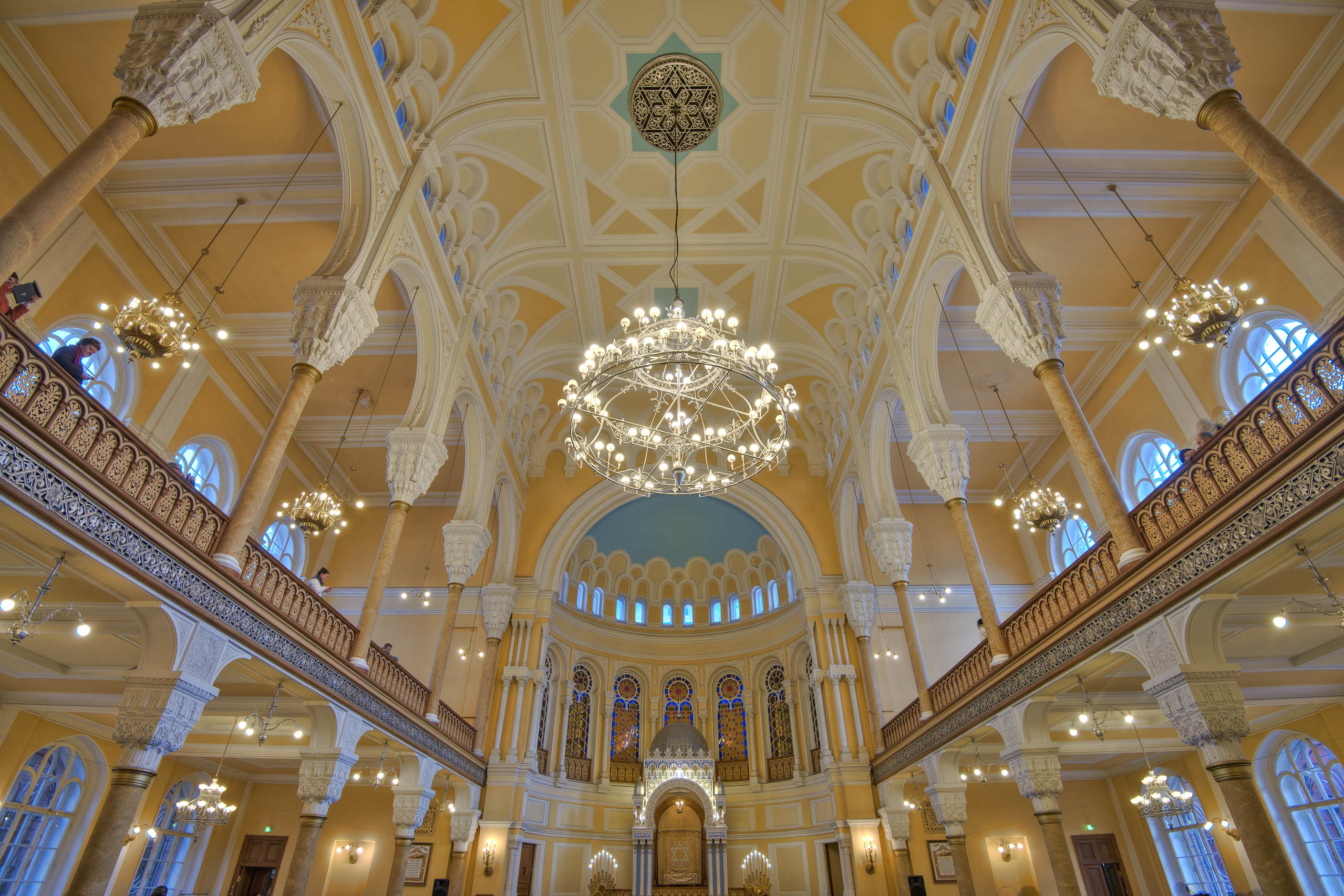 Main Prayer Hall of Grand Choral Synagogue. St.Petersburg, Russia