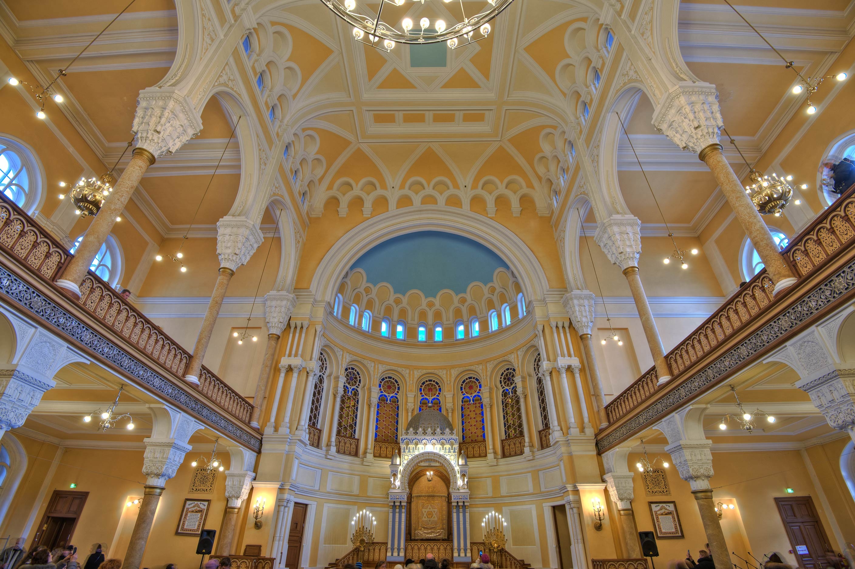 Vaults of Main Prayer Hall of Grand Choral Synagogue. St.Petersburg, Russia