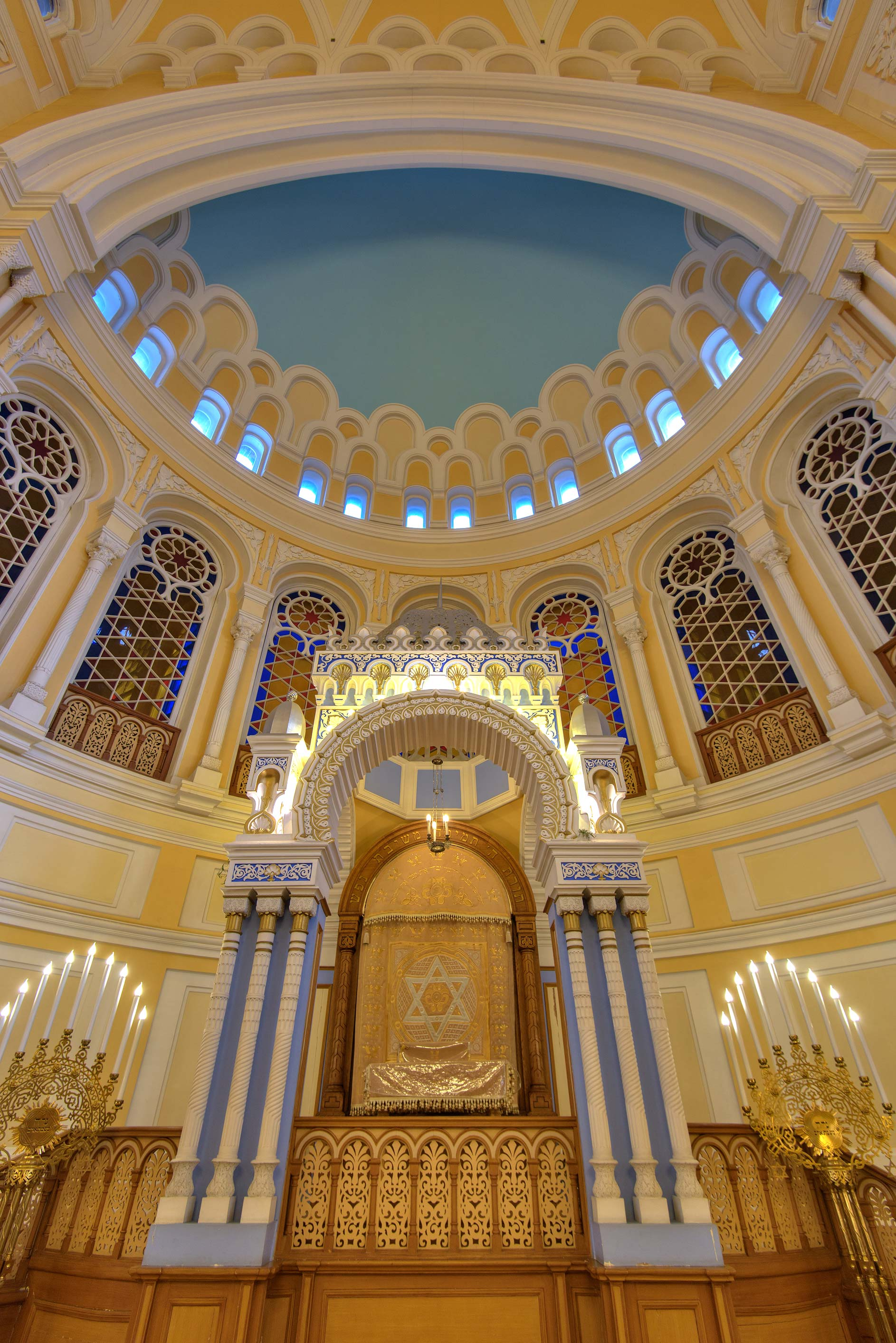 Altar of Main Prayer Hall of Grand Choral Synagogue. St.Petersburg, Russia