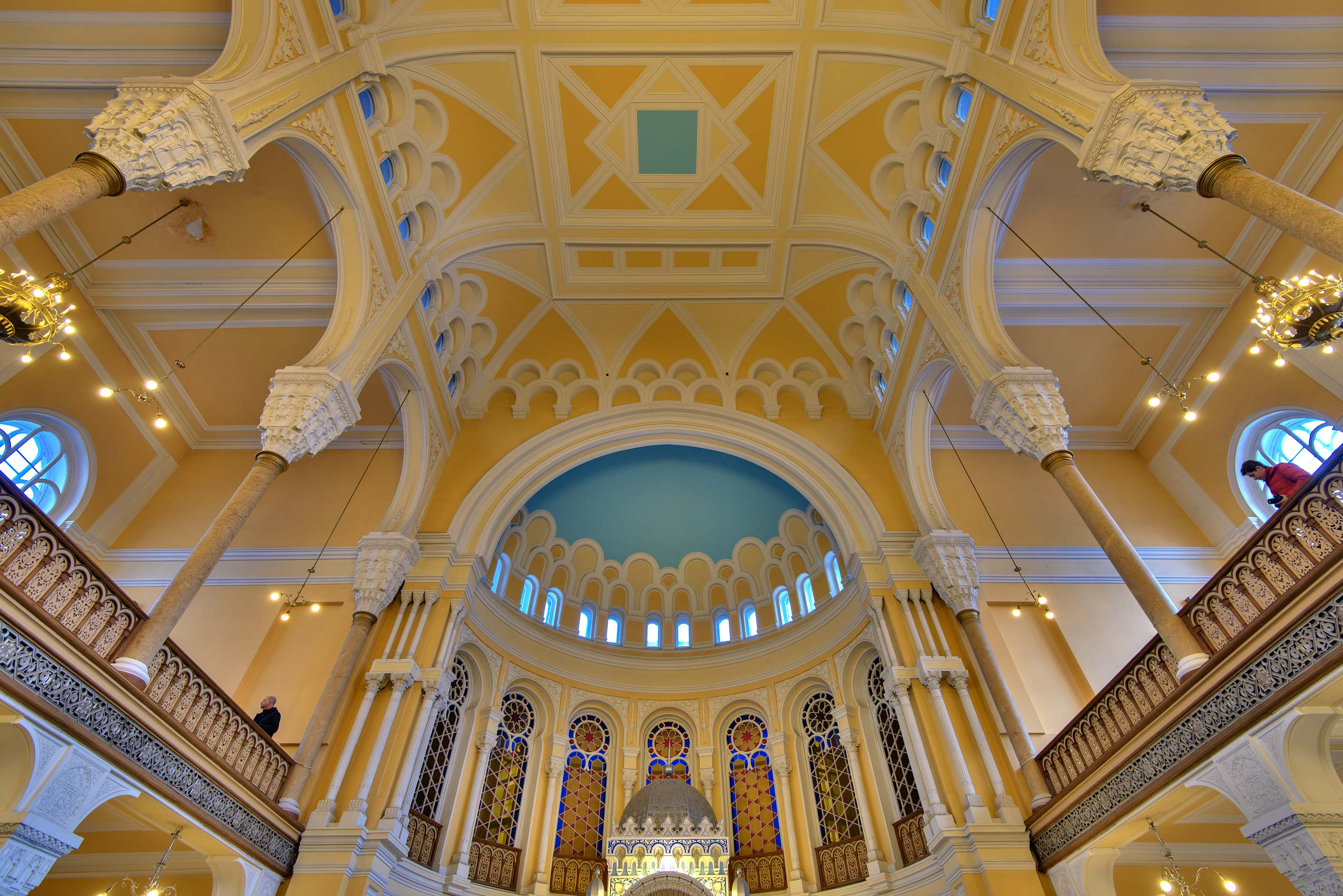 Arches of Main Prayer Hall of Grand Choral Synagogue. St.Petersburg, Russia