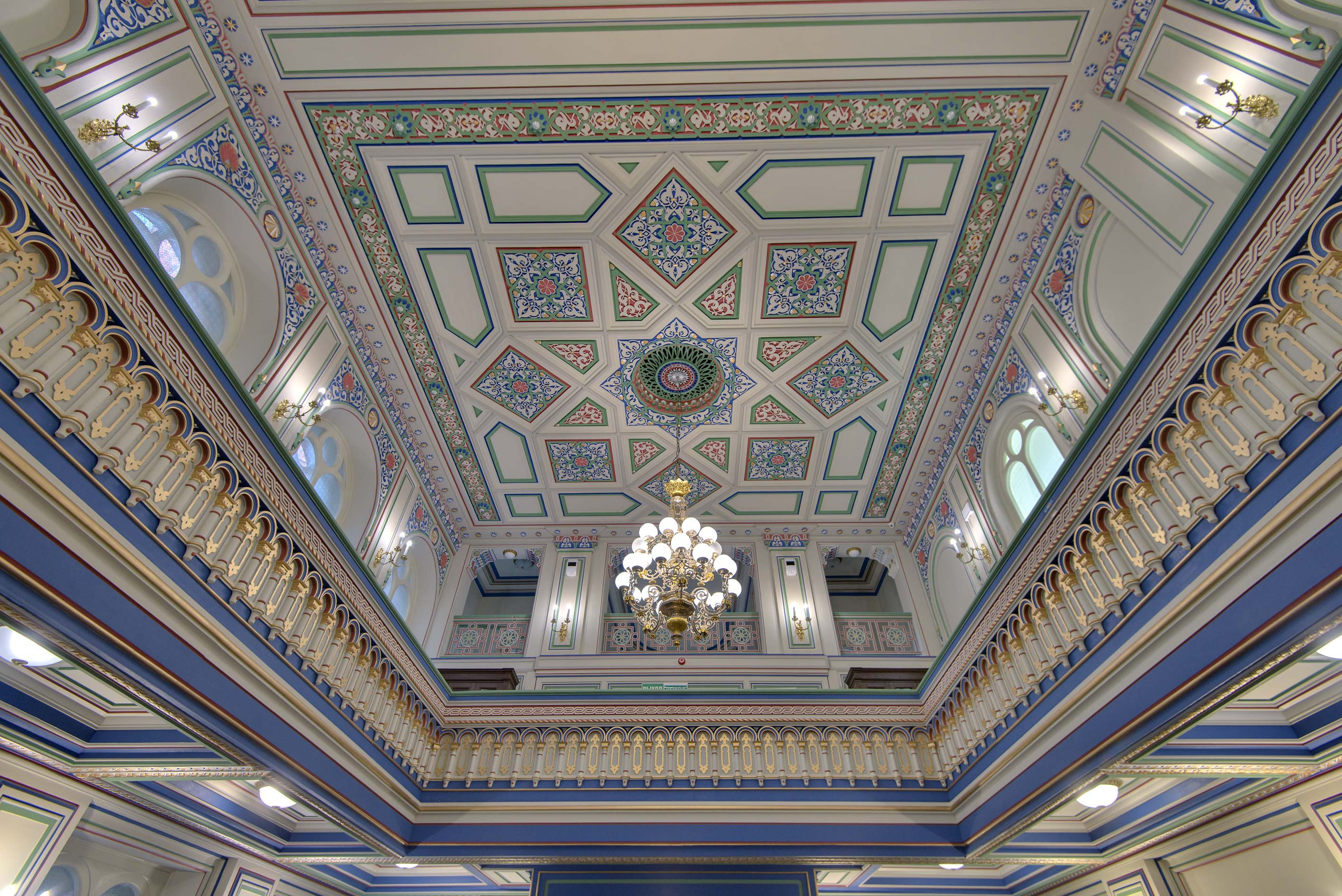 Ceiling of Small Synagogue in the back yard of...Synagogue. St.Petersburg, Russia