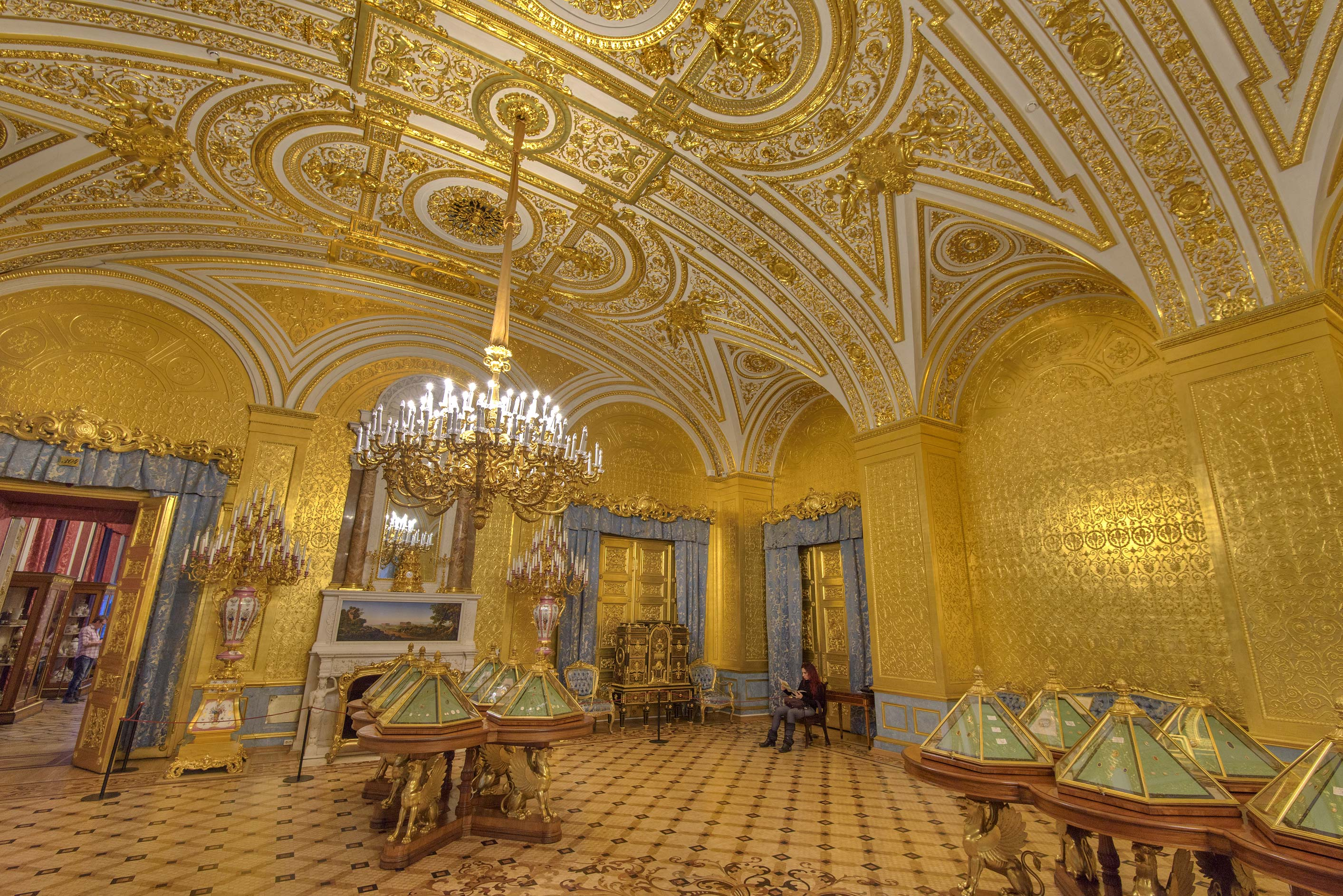 Photo 1968-12: Gold drawing room in Hermitage Museum. St ...