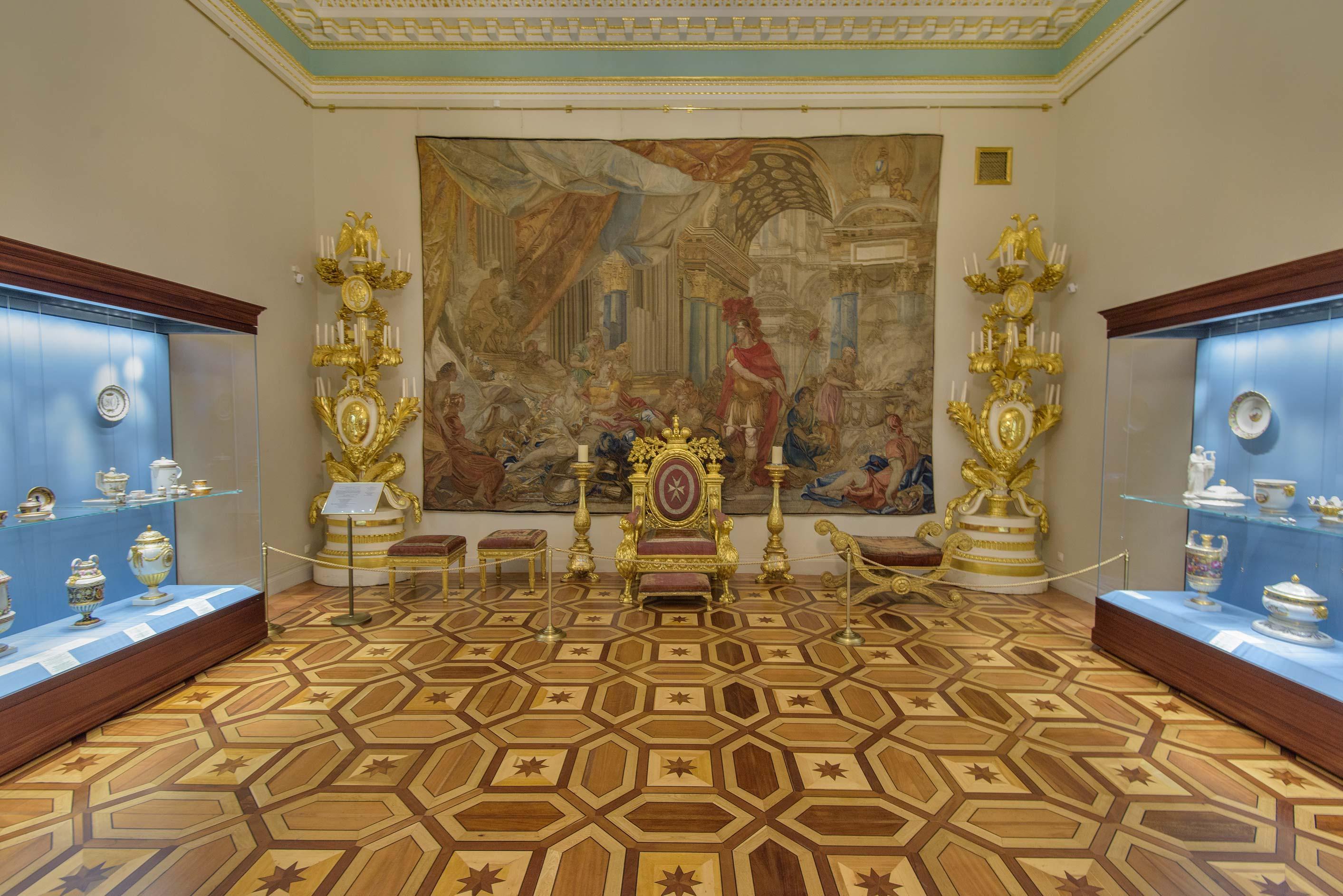 Tapestry room in Hermitage Museum. St.Petersburg, Russia