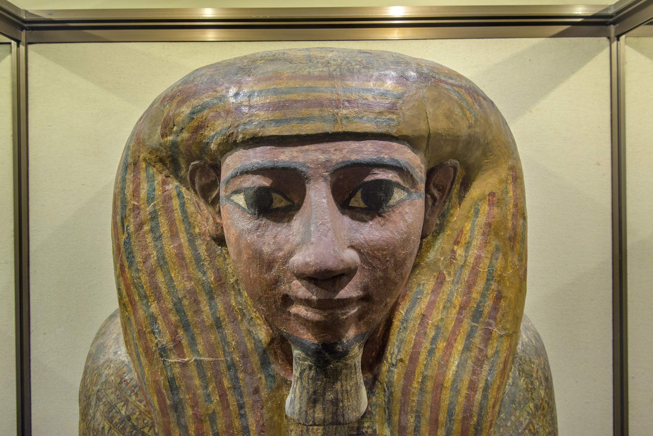 A mummy in ancient Egypt section of Hermitage Museum. St.Petersburg, Russia