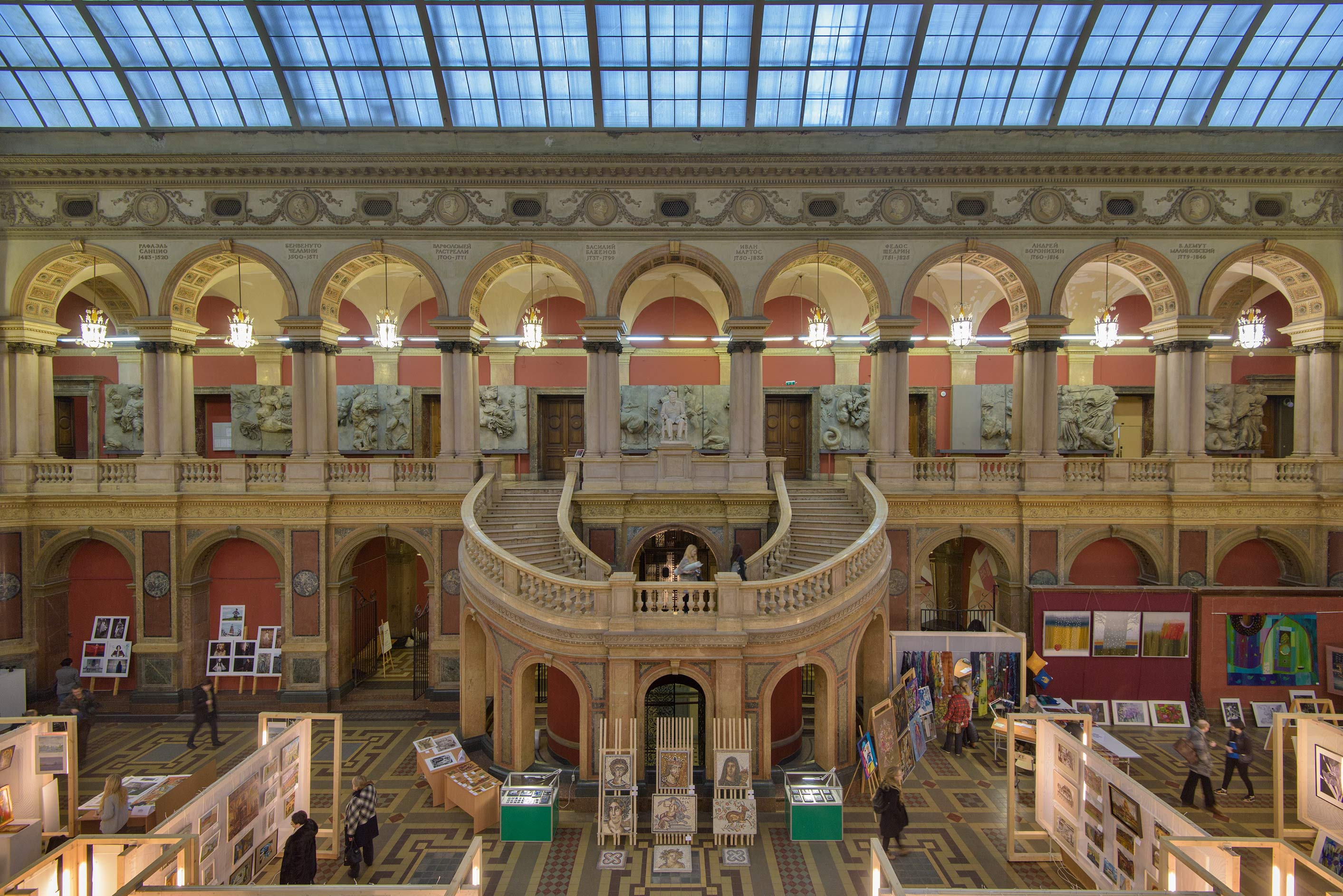 Exhibition Hall in Stieglitz Museum of Applied Arts. St.Petersburg, Russia