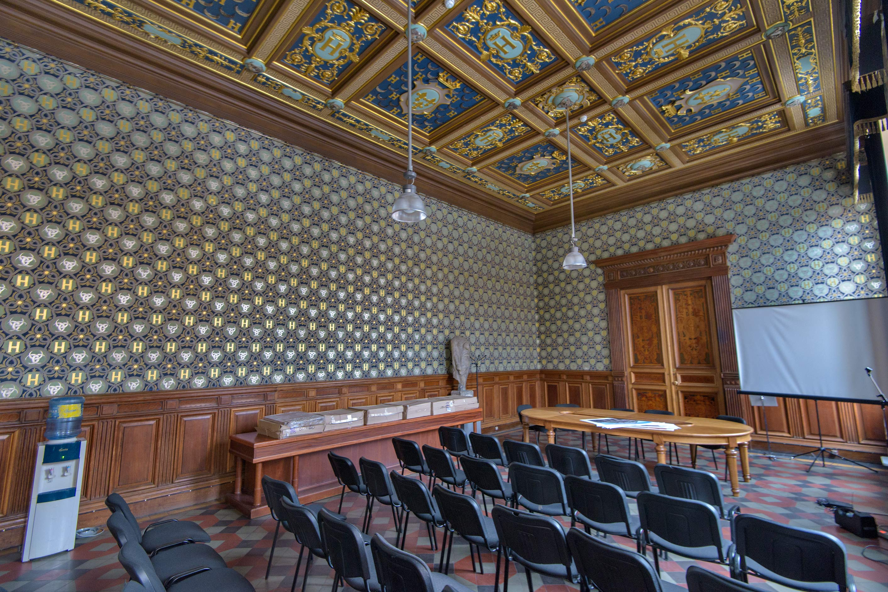 Student's auditorium of Mukhinskoe School in...of Applied Arts. St.Petersburg, Russia