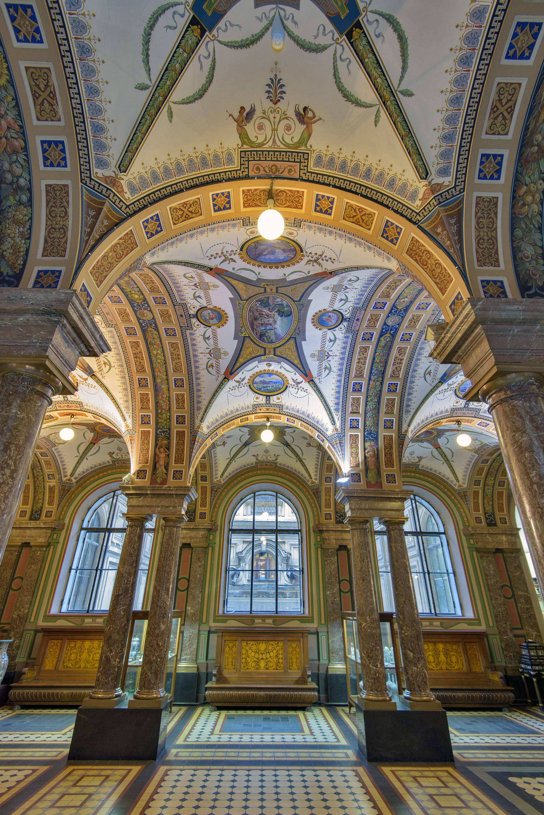 Vaults of Avant Hall in Stieglitz Museum of Applied Arts. St.Petersburg, Russia