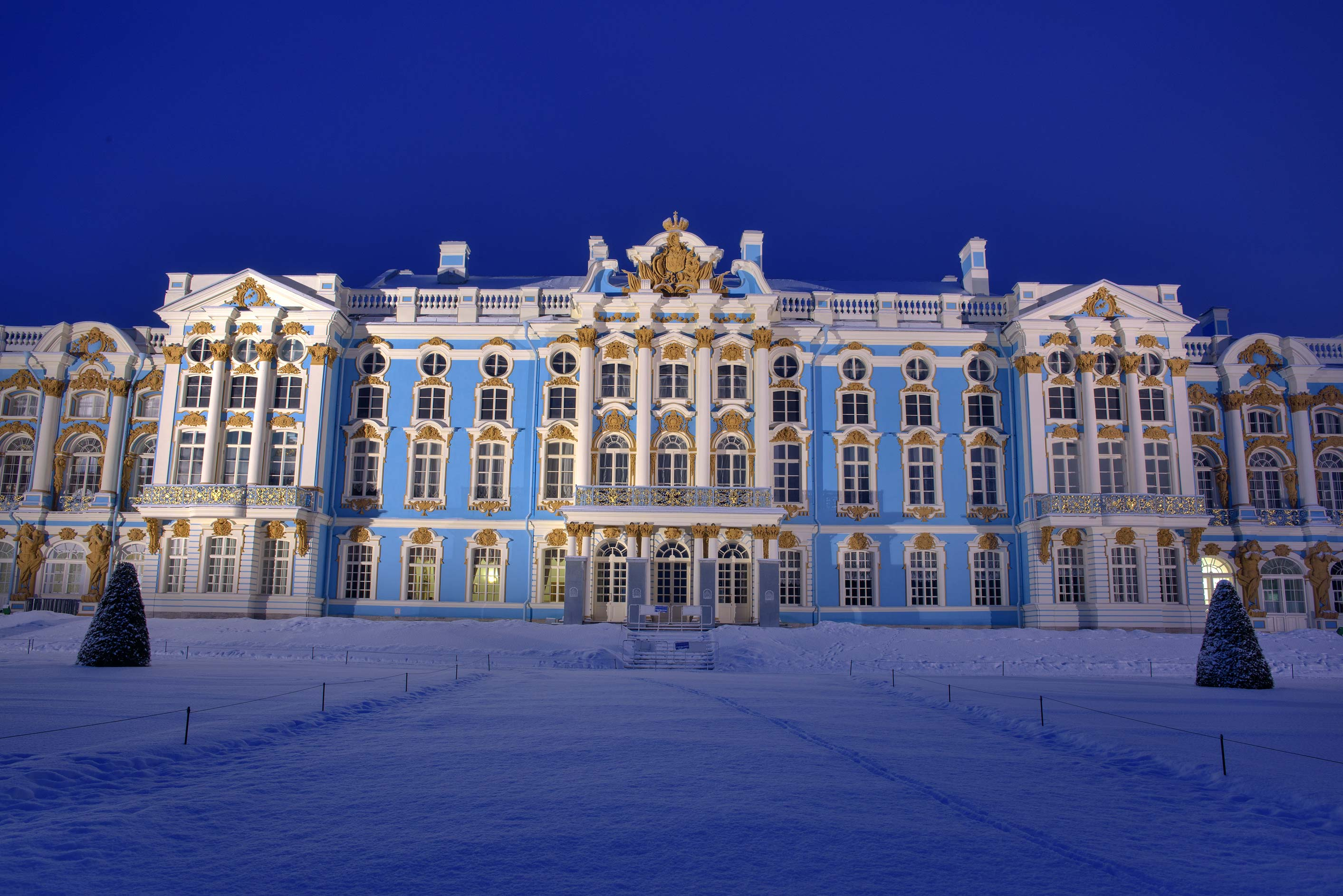 Grand Palace in Catherine Park. Pushkin (former Tsarskoe Selo) near St.Petersburg, Russia