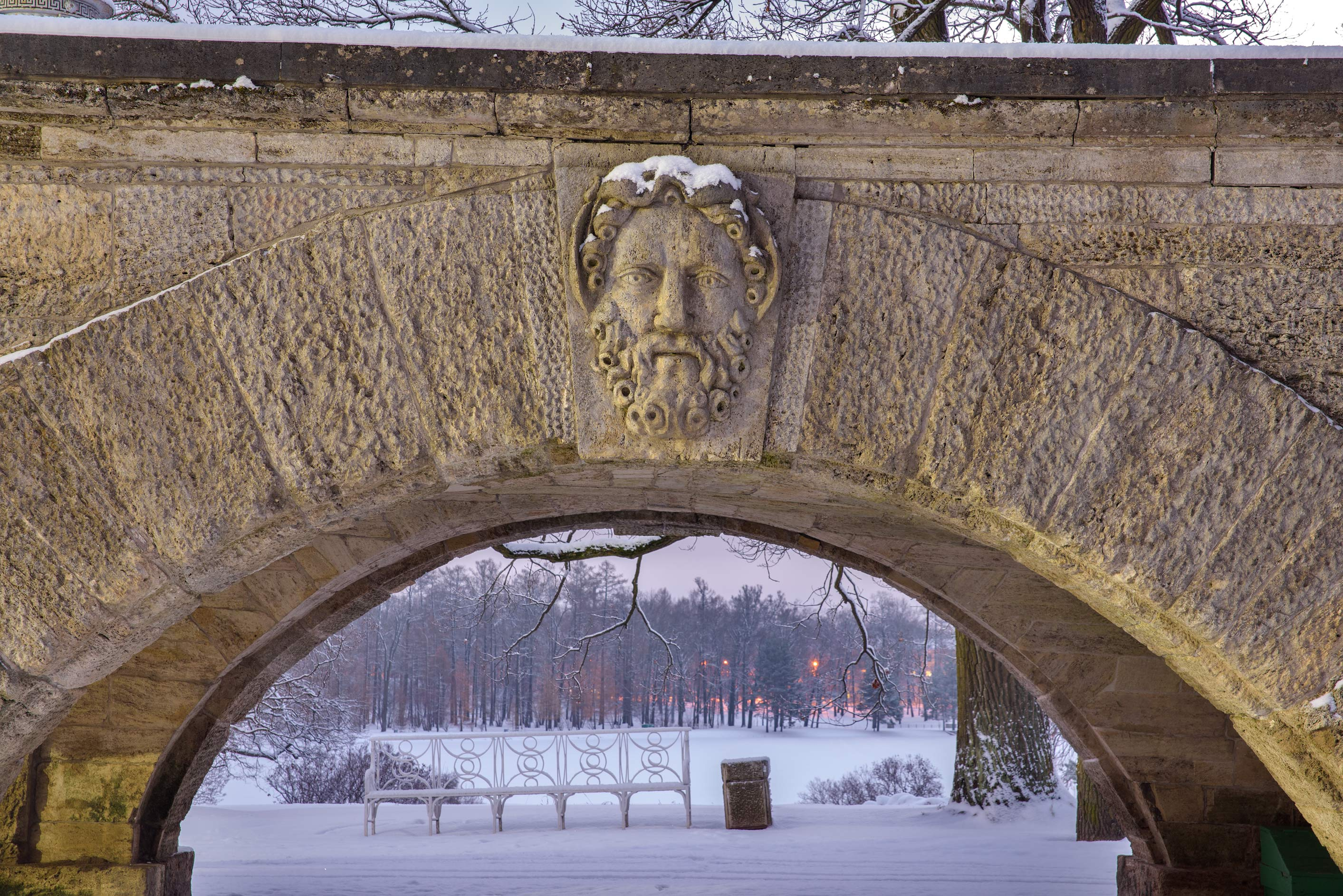 Arch of ramp of Cameron Gallery in Catherine Park...Selo) near St.Petersburg, Russia