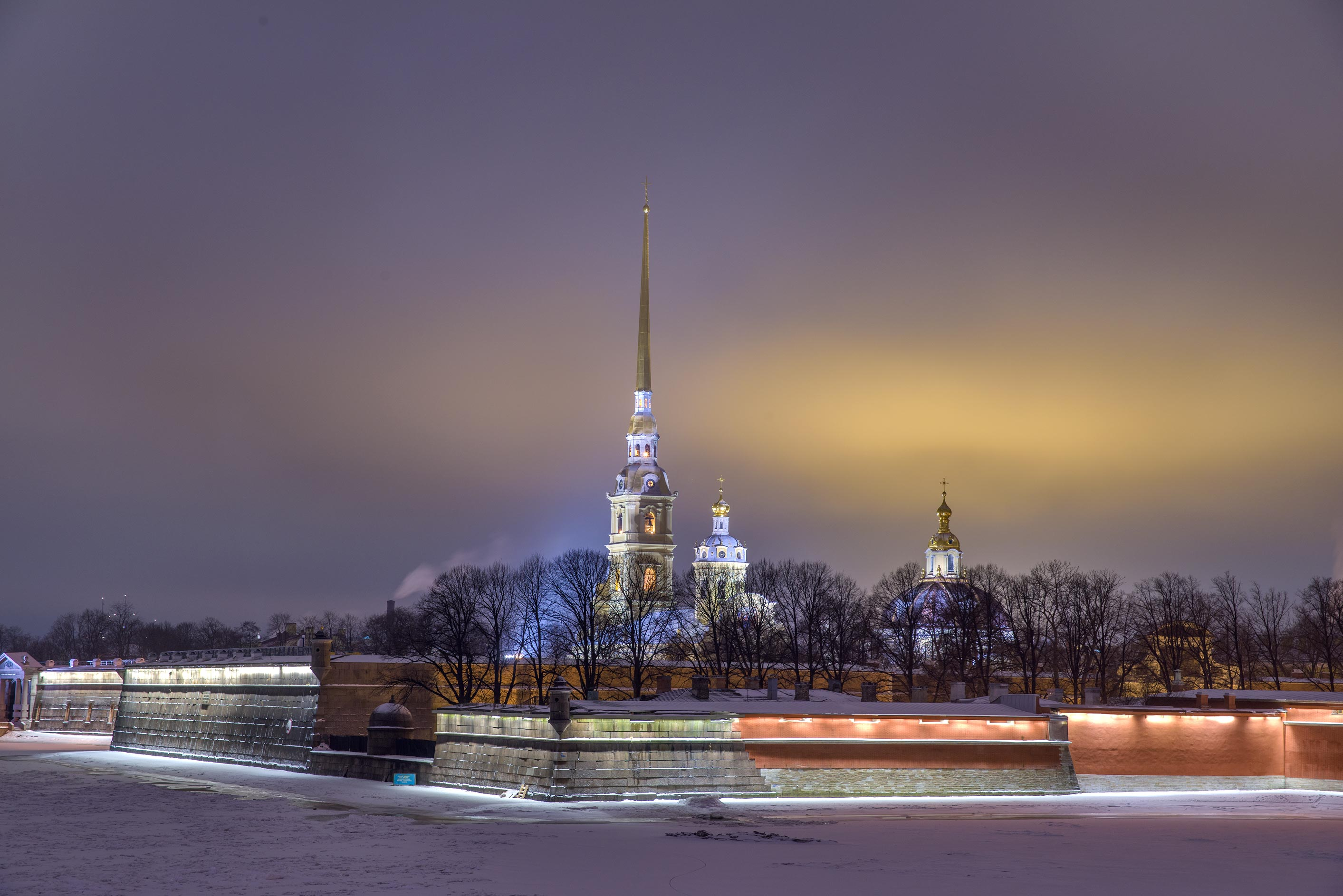 Peter and Paul Fortress from Troitsky Bridge. St.Petersburg, Russia