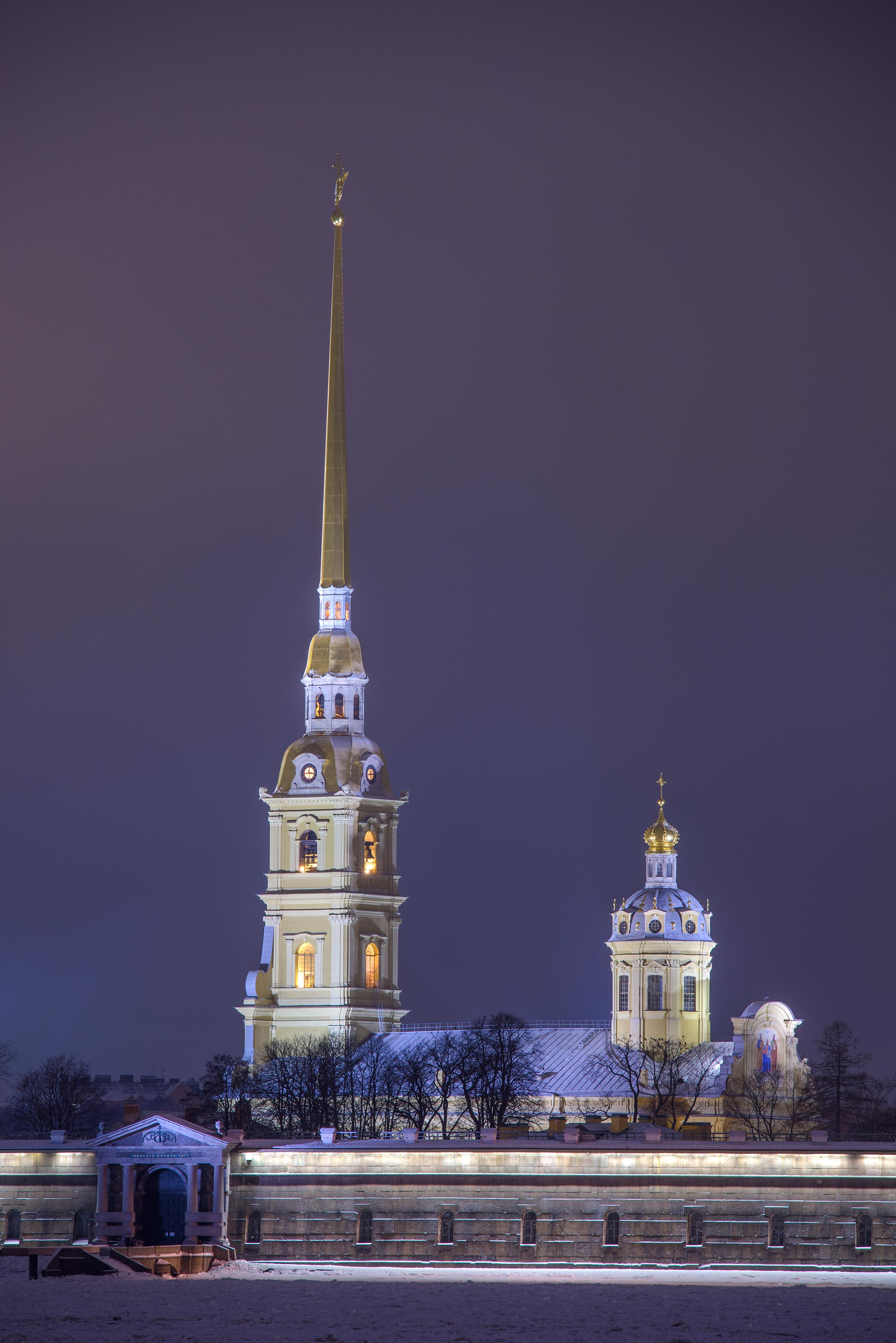 Peter and Paul Cathedral from Troitsky Bridge. St.Petersburg, Russia