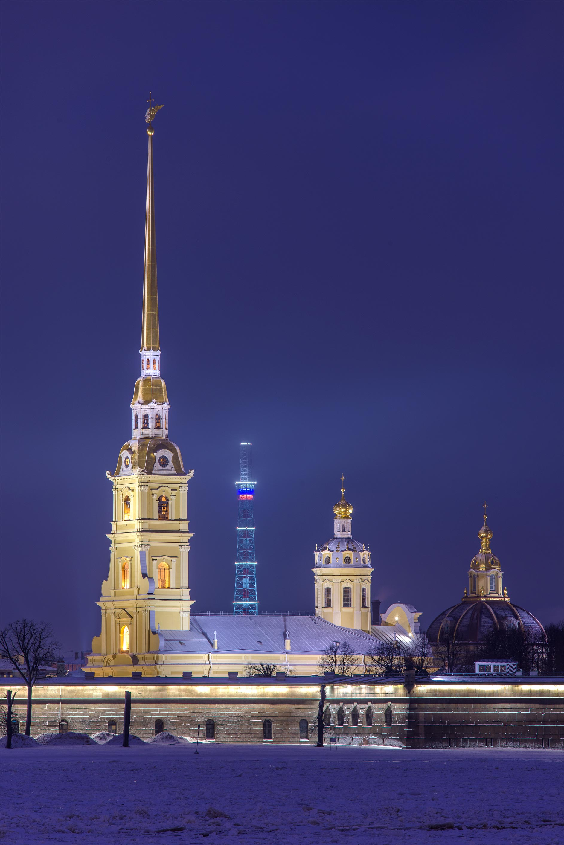 Peter and Paul Fortress from Palace Embankment. St.Petersburg, Russia
