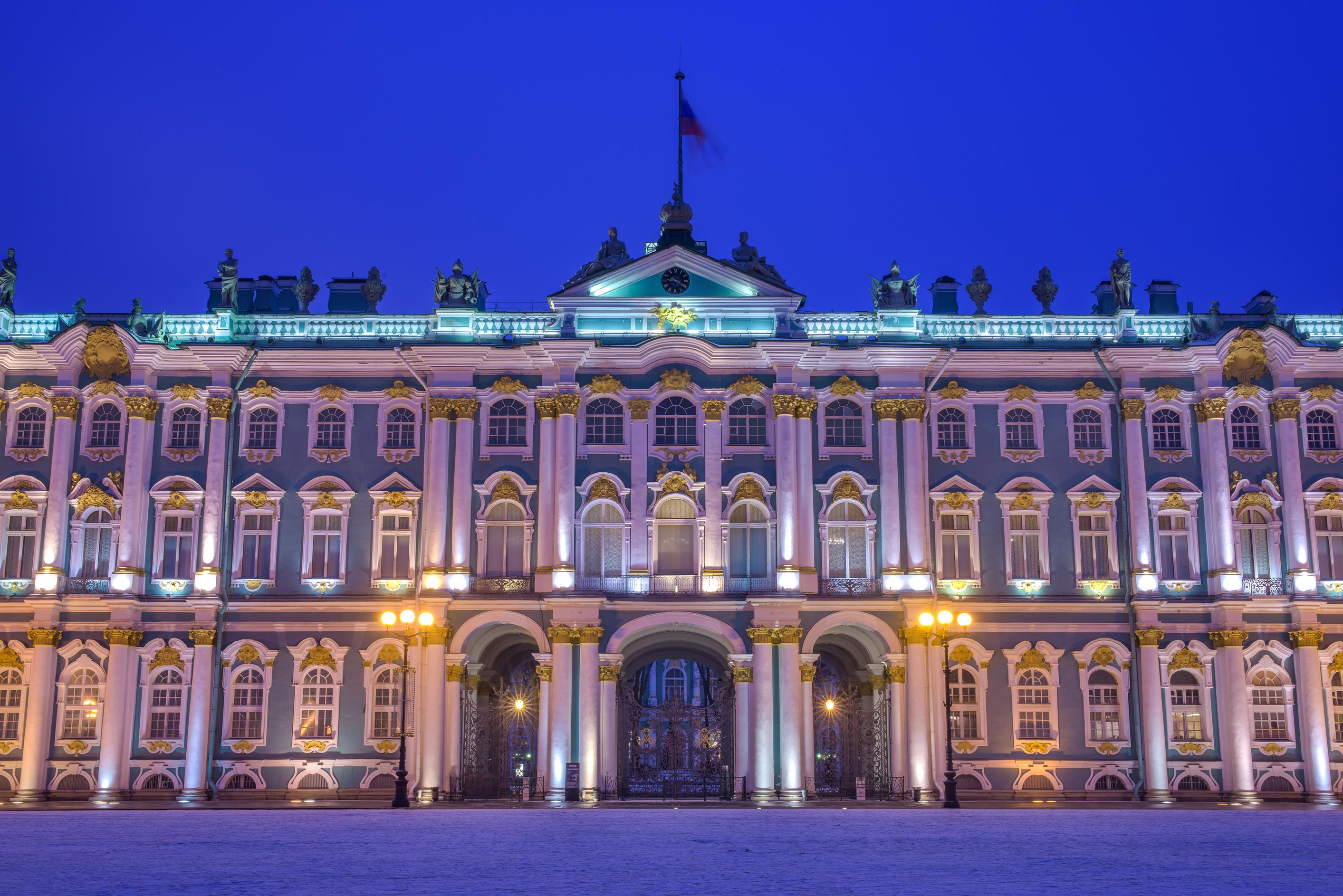 Winter Palace at morning. St.Petersburg, Russia