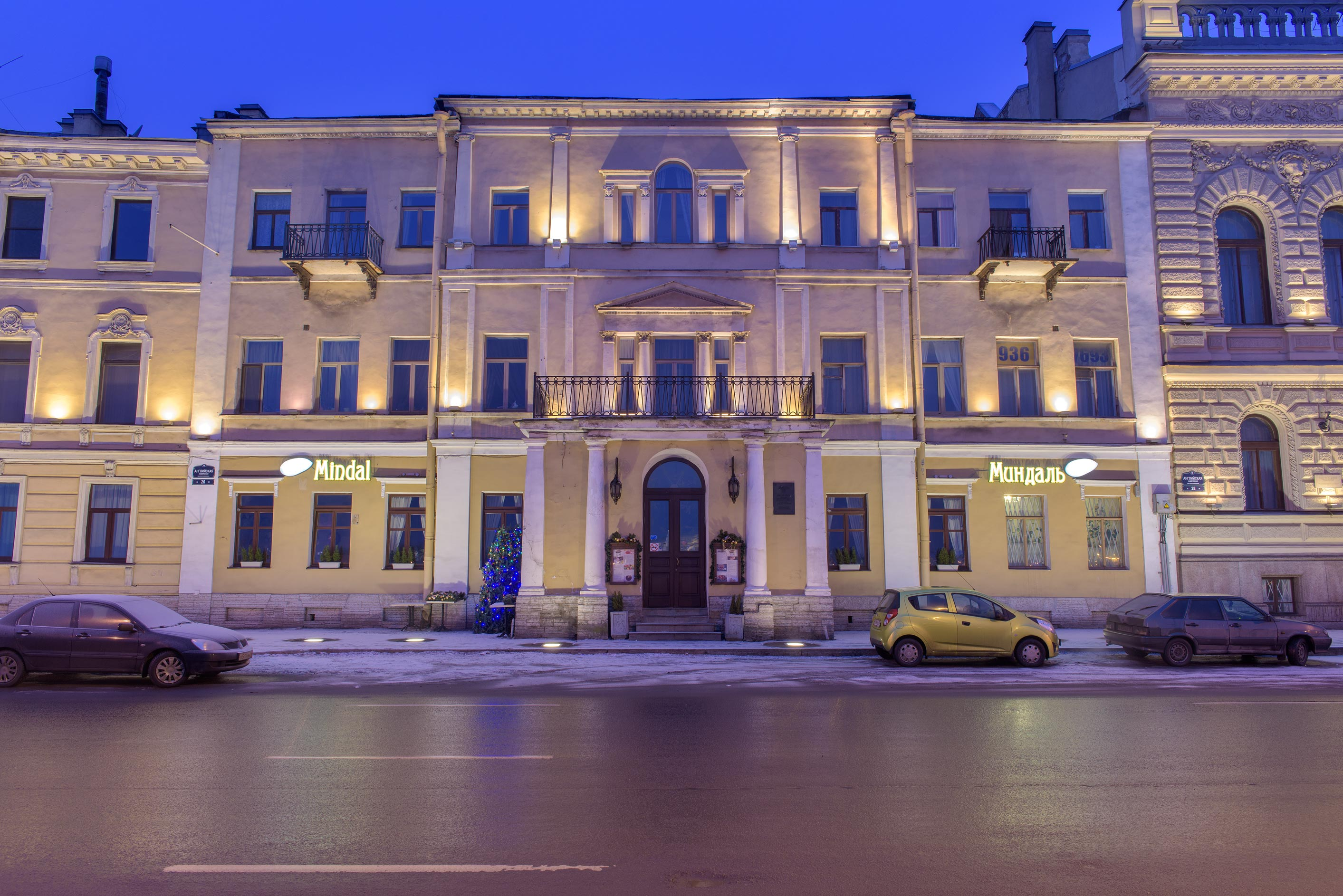 Chelyshev House at 26 Angliyskaya Embankment. St.Petersburg, Russia