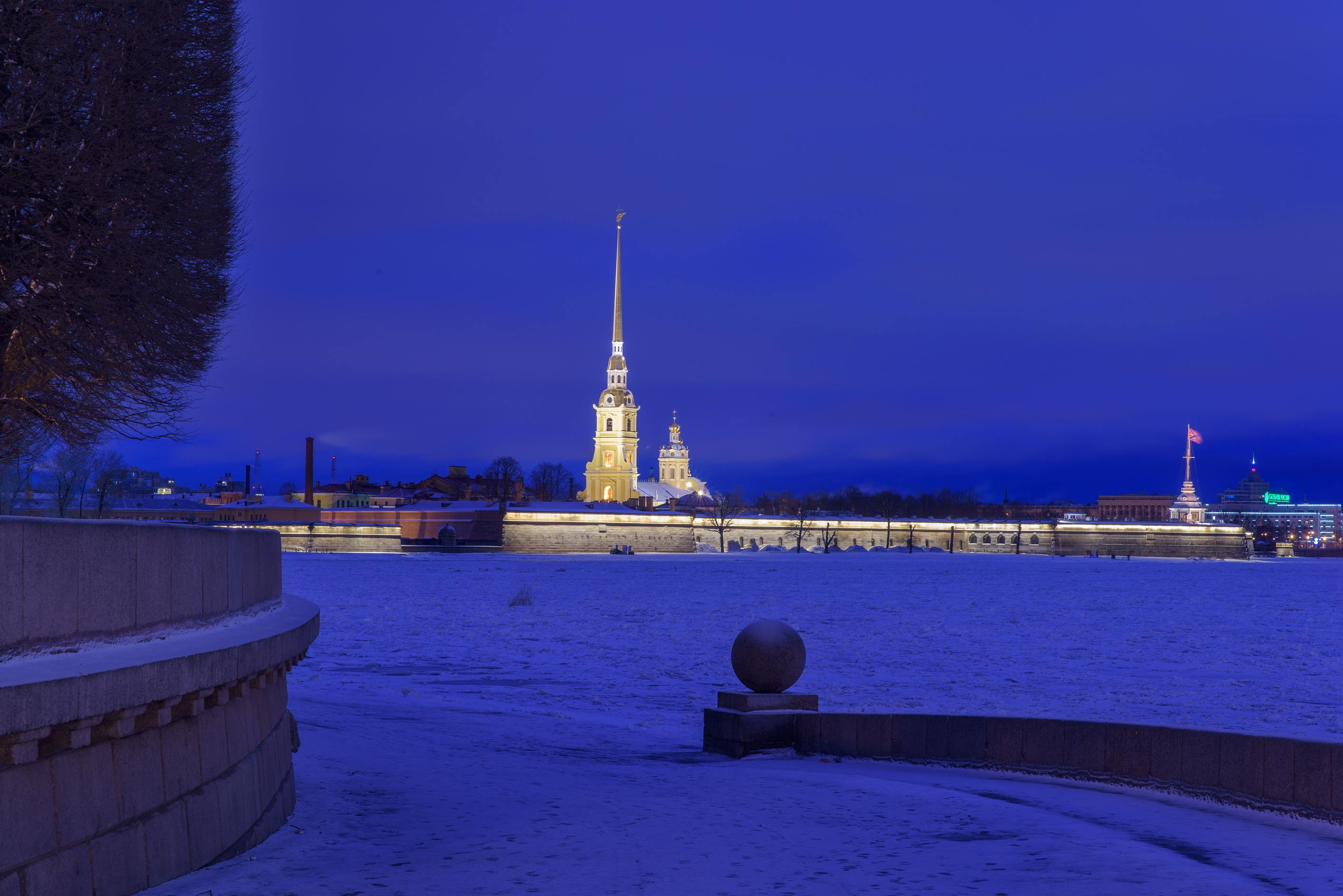 Peter and Paul Fortress from a water approach on...Island. St.Petersburg, Russia