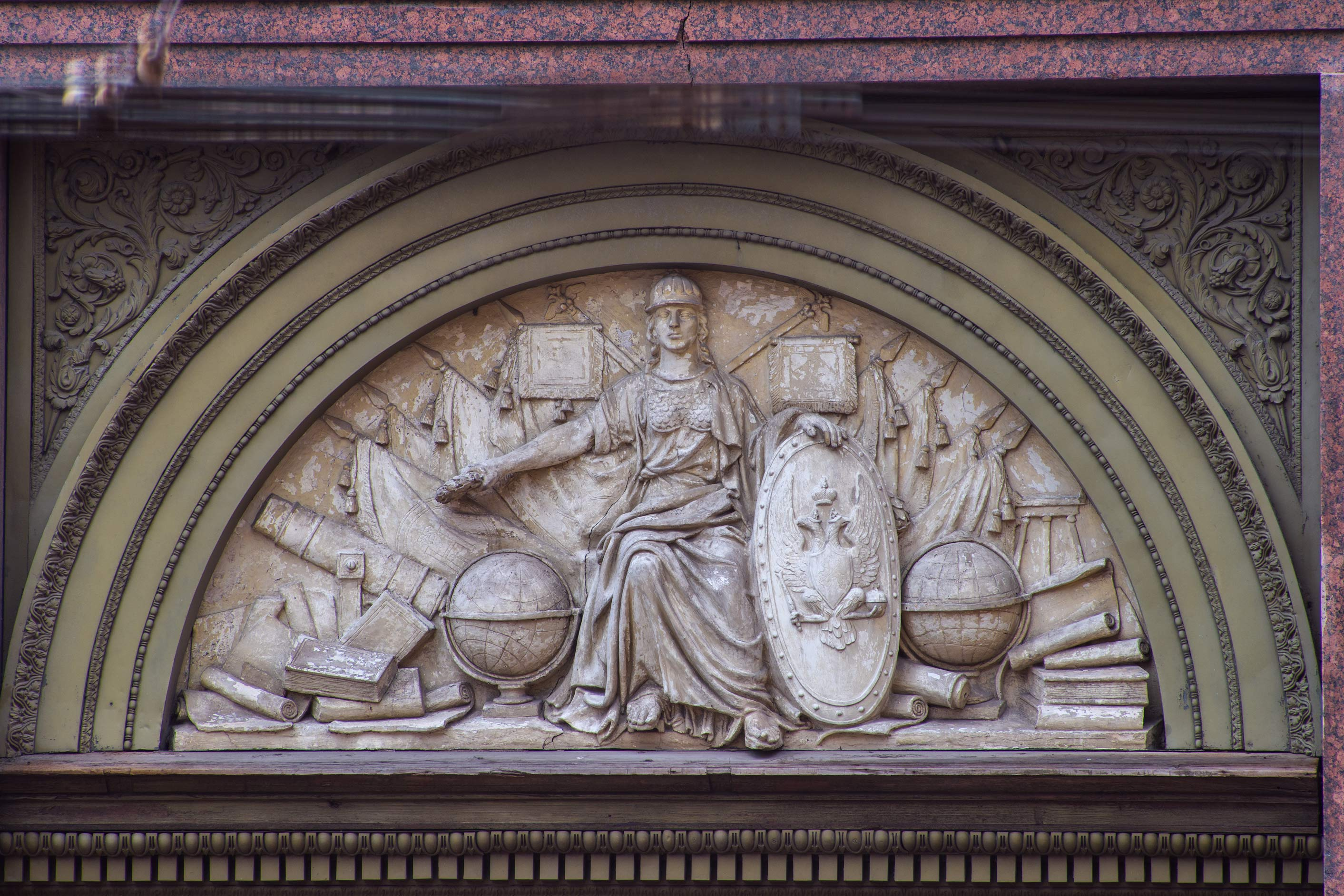 Relief over a door of House of Free Economic Society. St.Petersburg, Russia