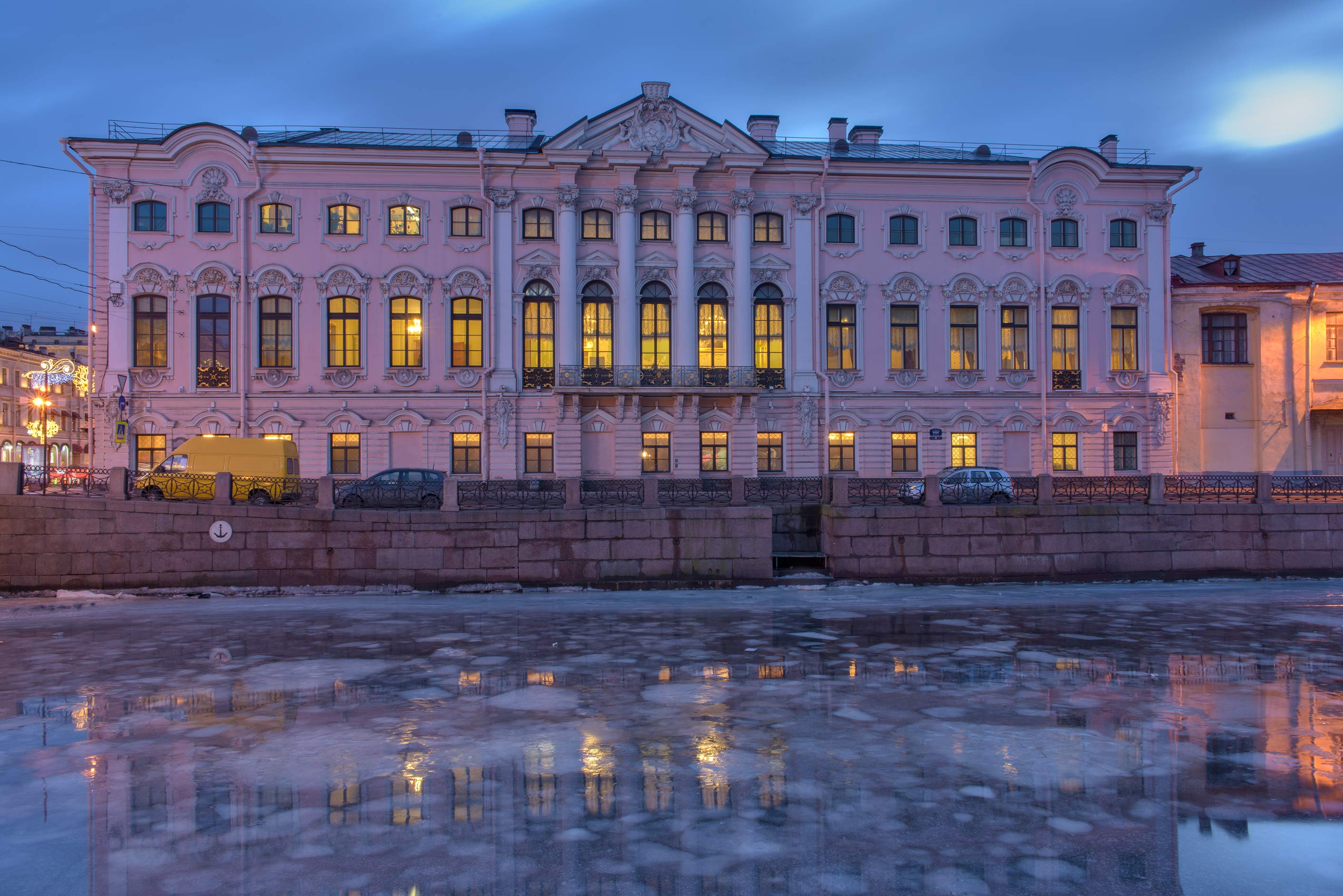 Stroganov Palace and Moyka River. St.Petersburg, Russia