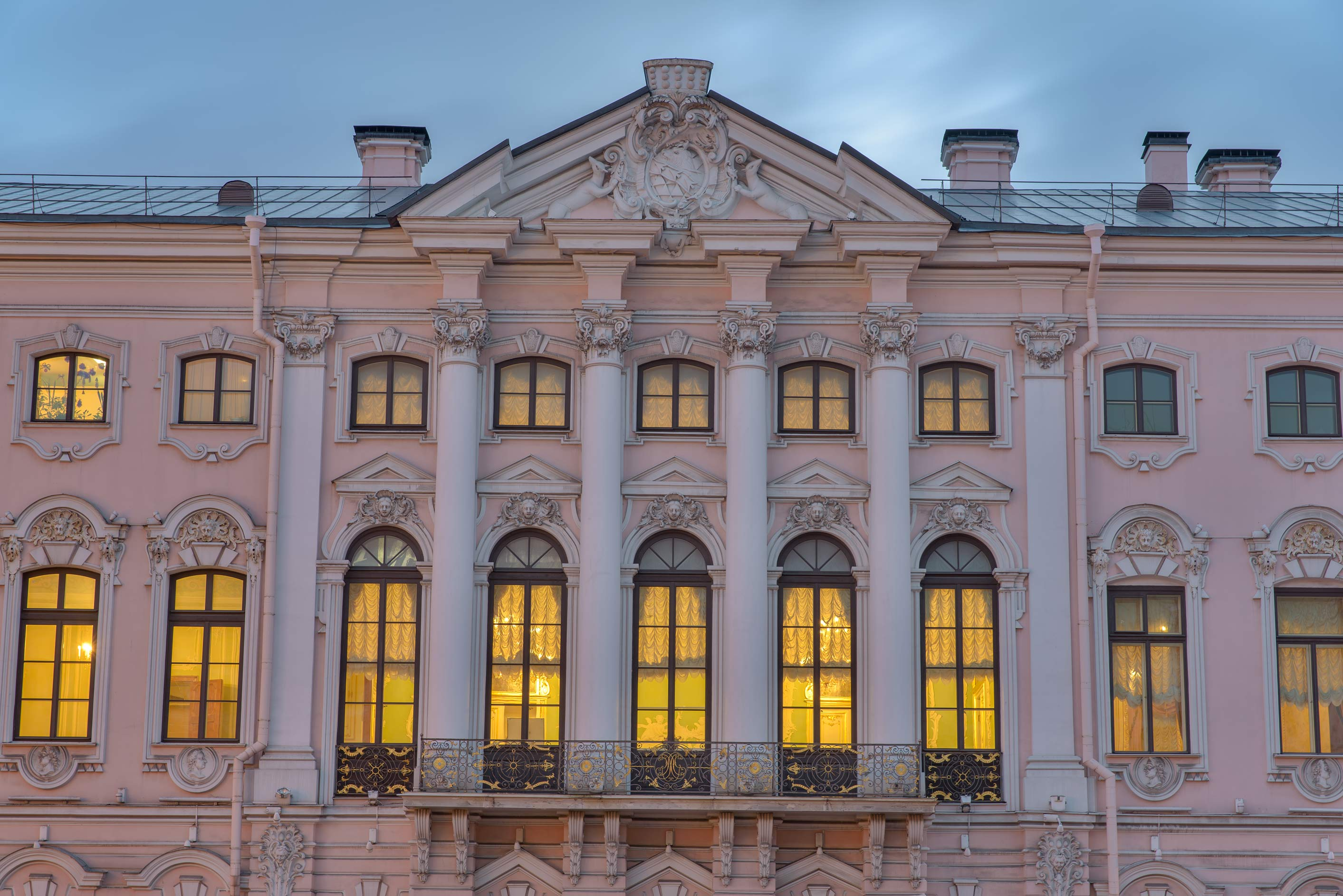 Stroganov Palace at morning. St.Petersburg, Russia