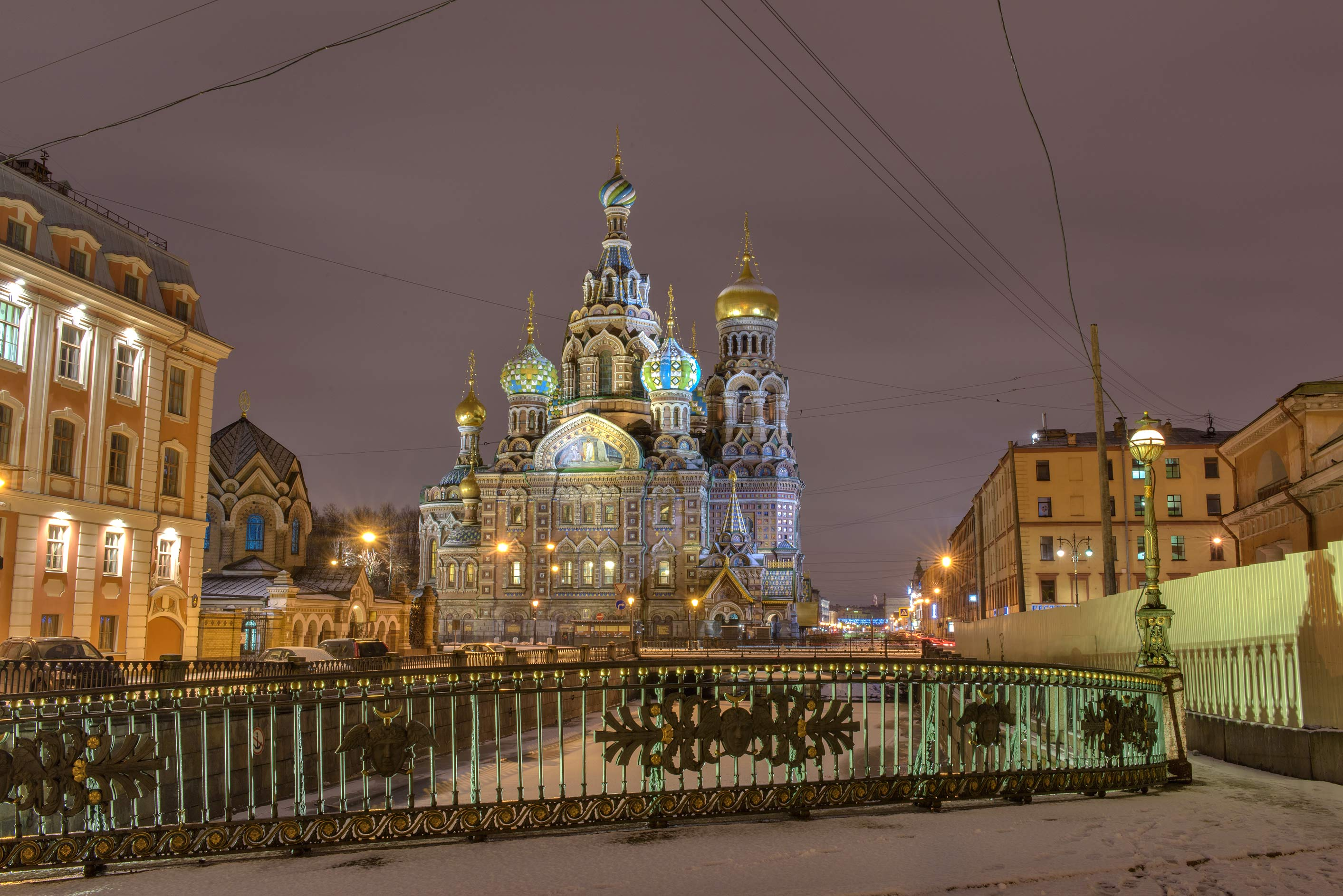 Church of Savior on Blood from False Bridge. St.Petersburg, Russia
